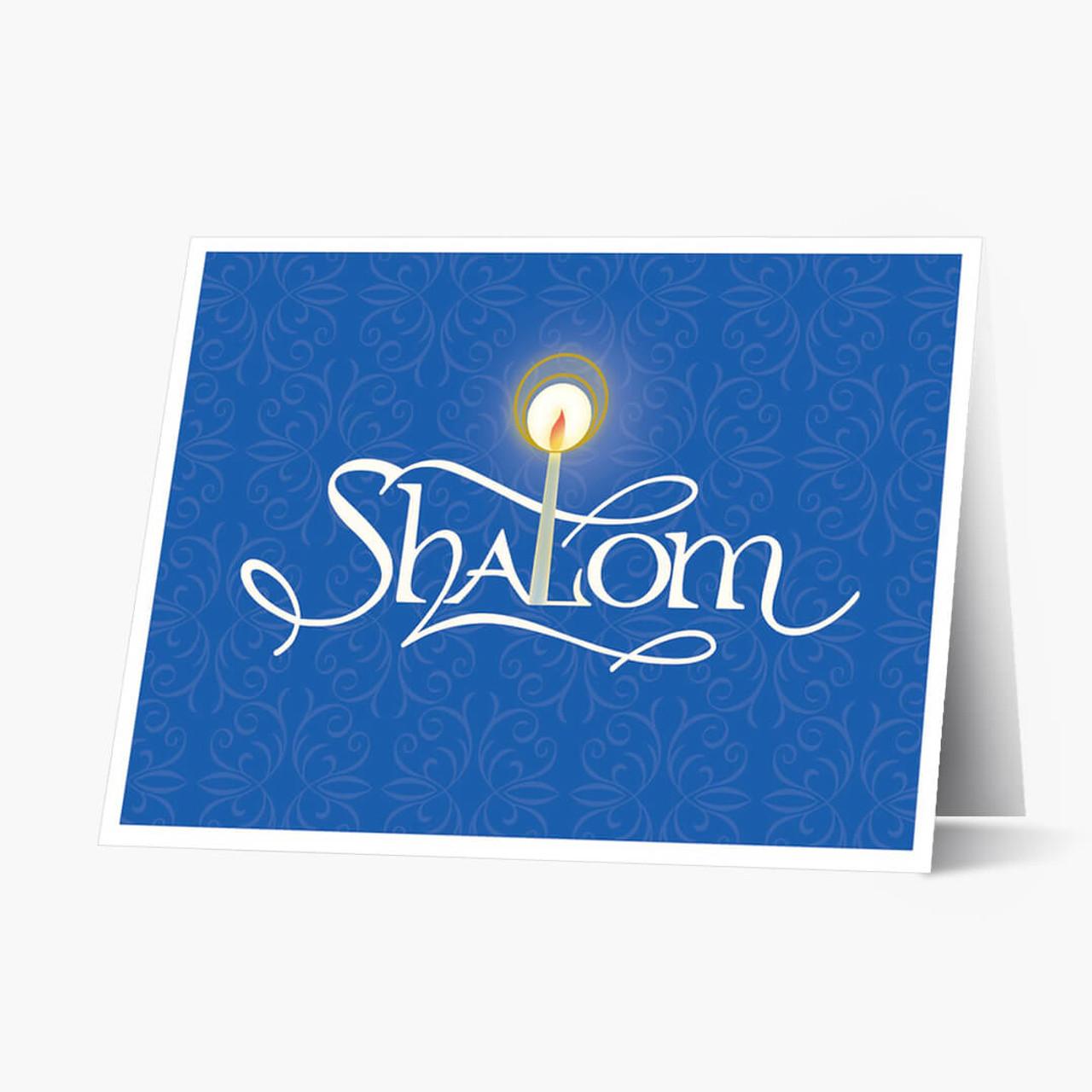 Candlelit Shalom Hanukkah Card