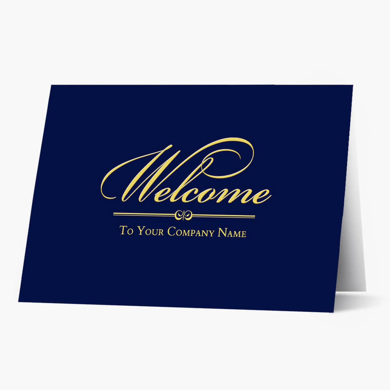 Front Imprint Welcome Card