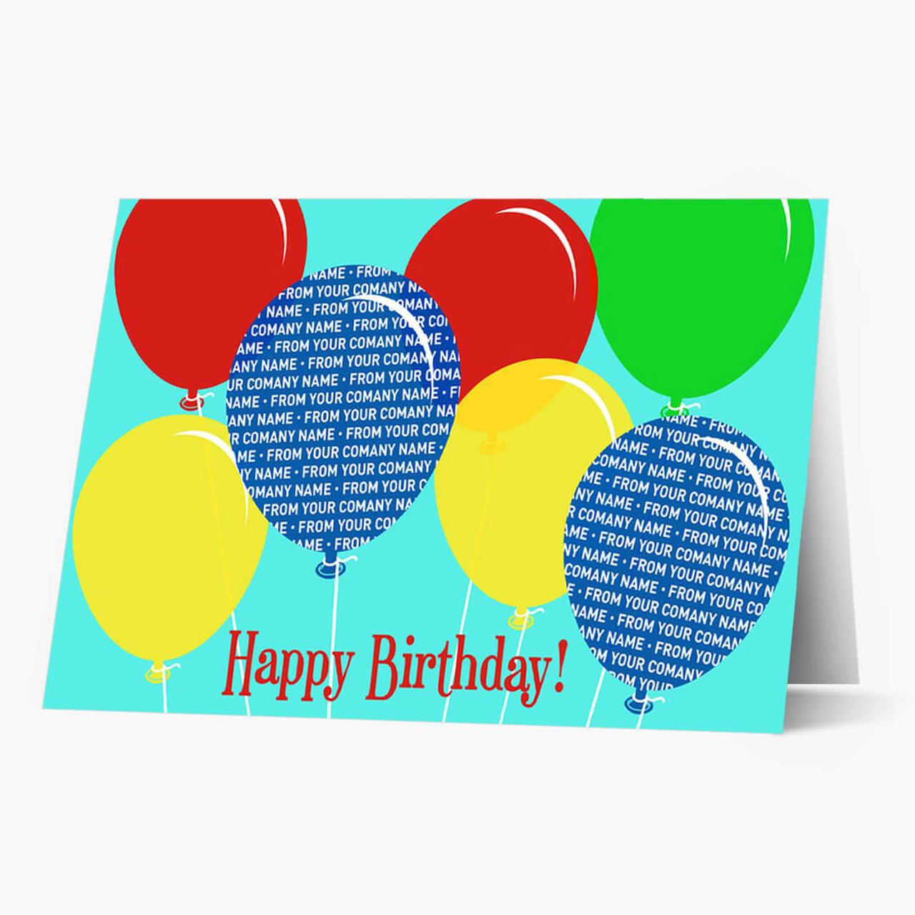 Company Front Imprint Birthday Card