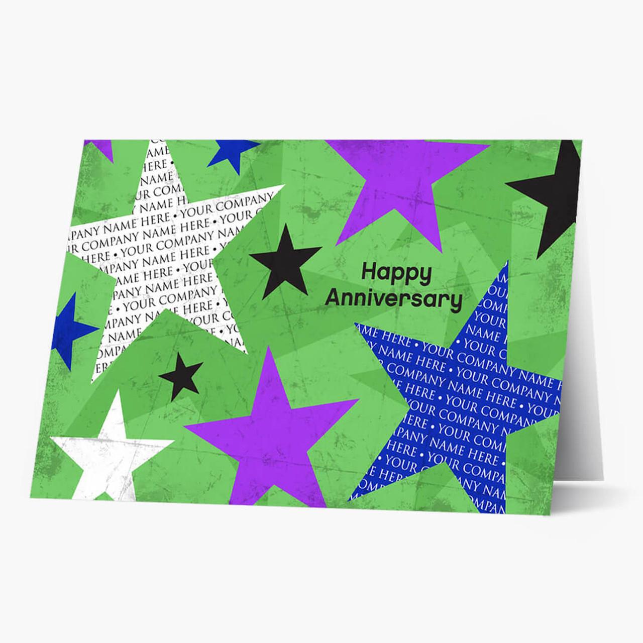 Employee Star Anniversary Card