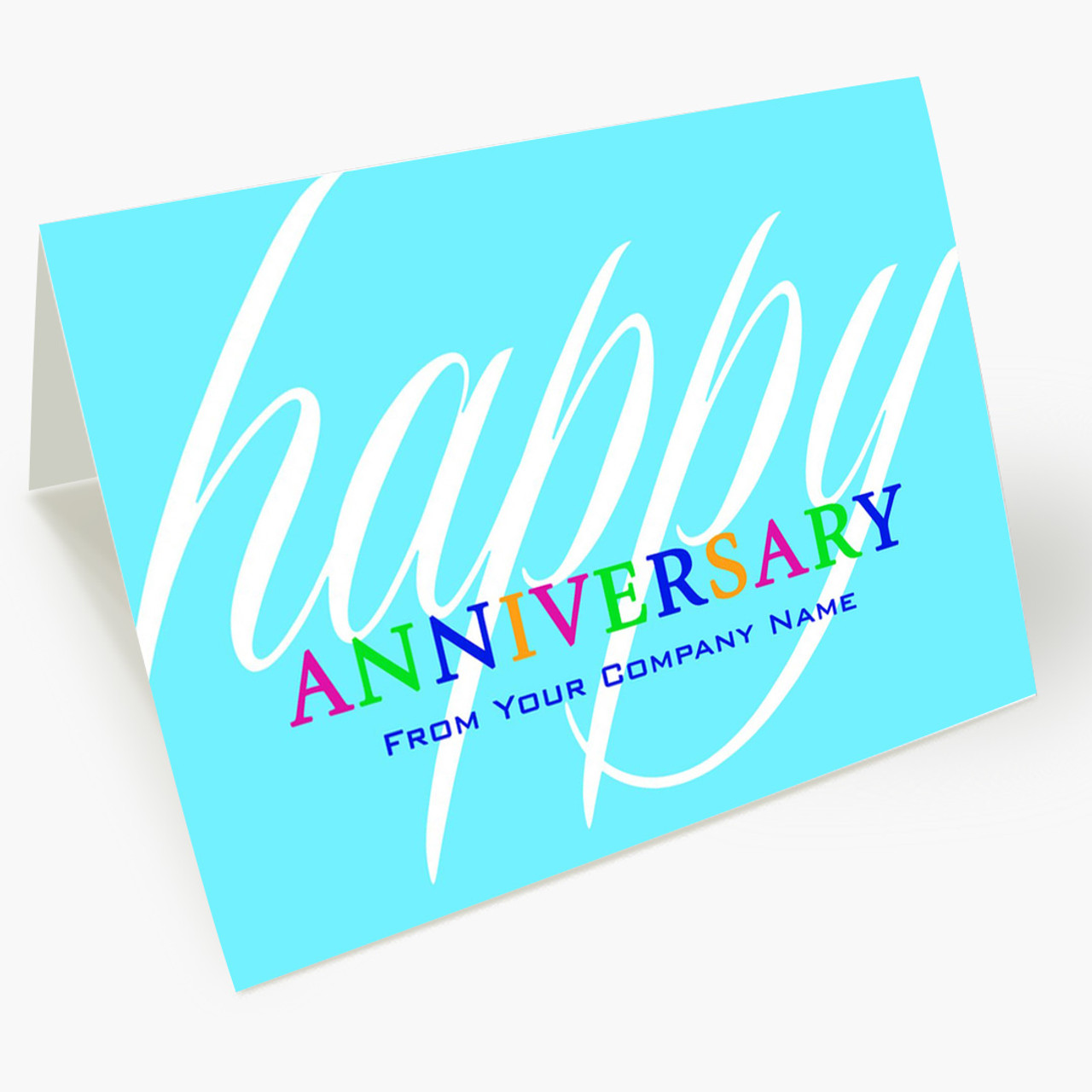 Colorful Anniversary Wishes Card