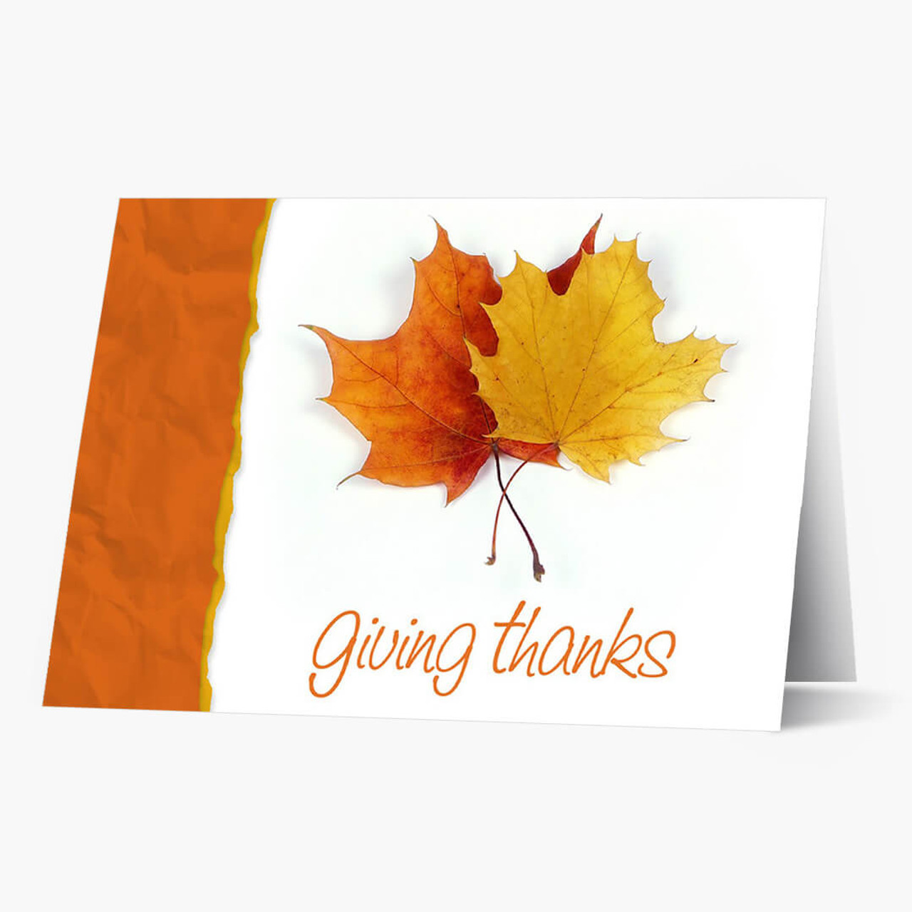 Give Thanks  Thanksgiving Card