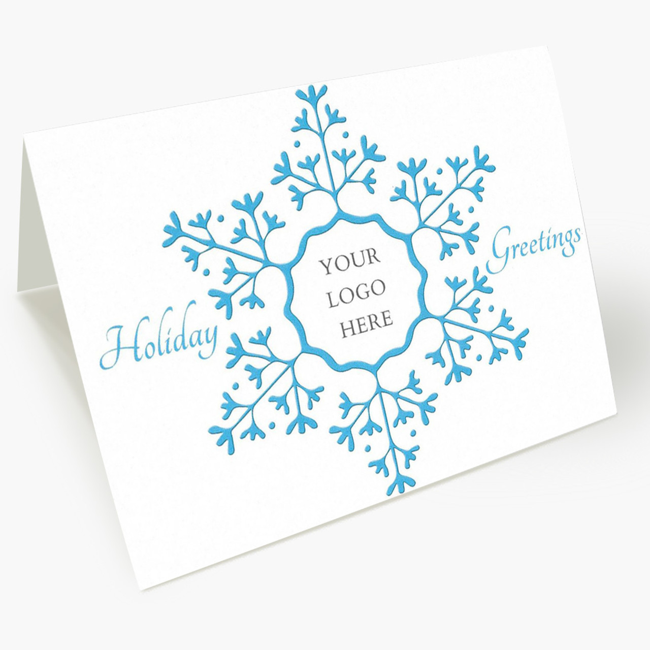 Snowflake Greetings Logo Christmas Card