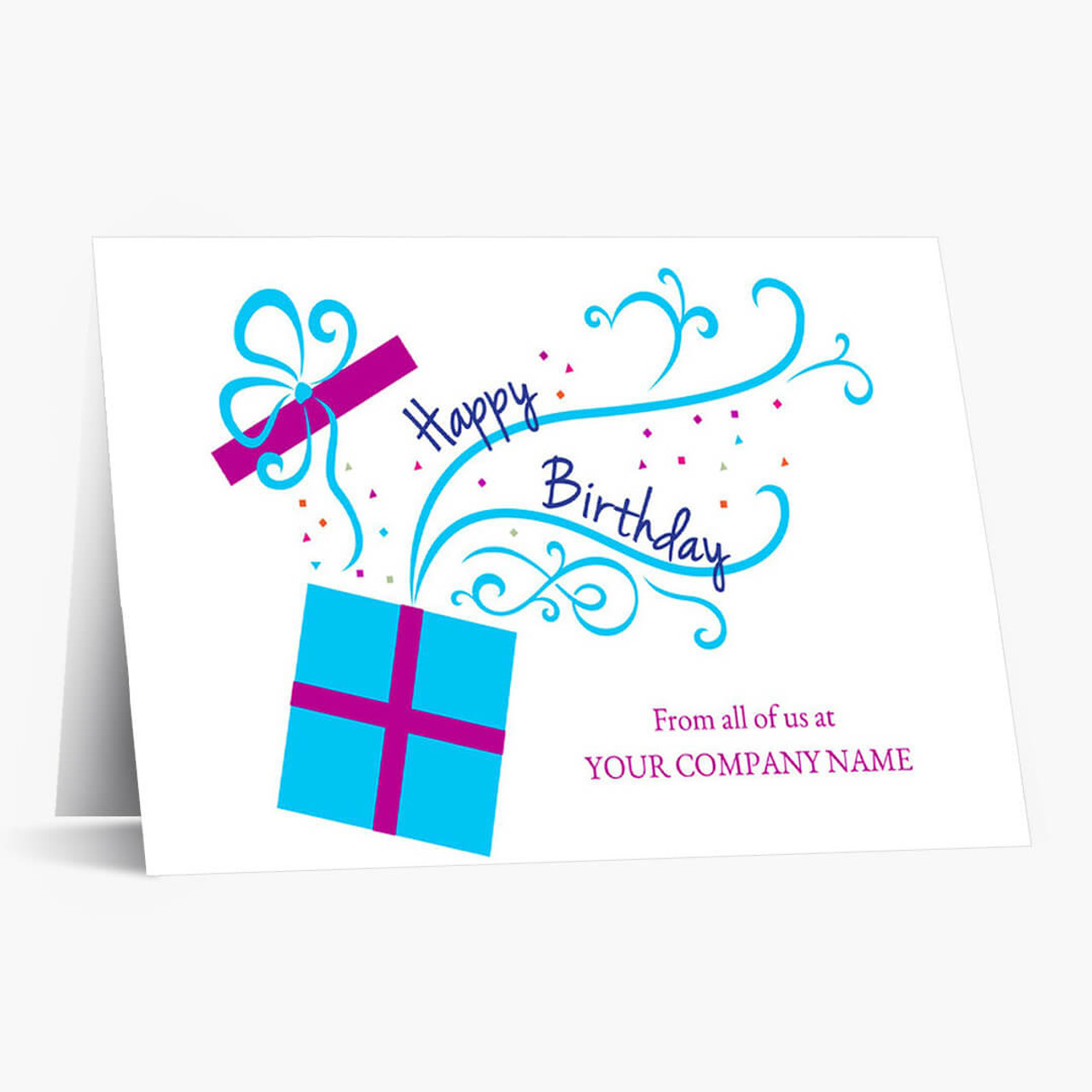 Bursting With Wishes Birthday Card
