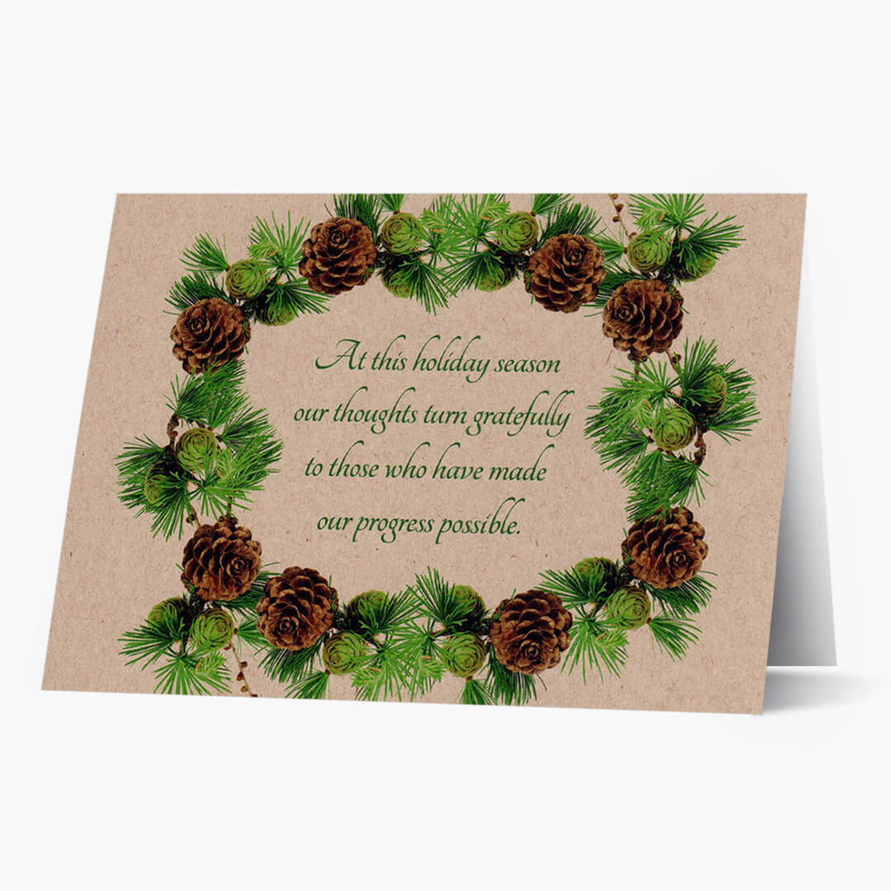 Appreciation Wreath Christmas Card