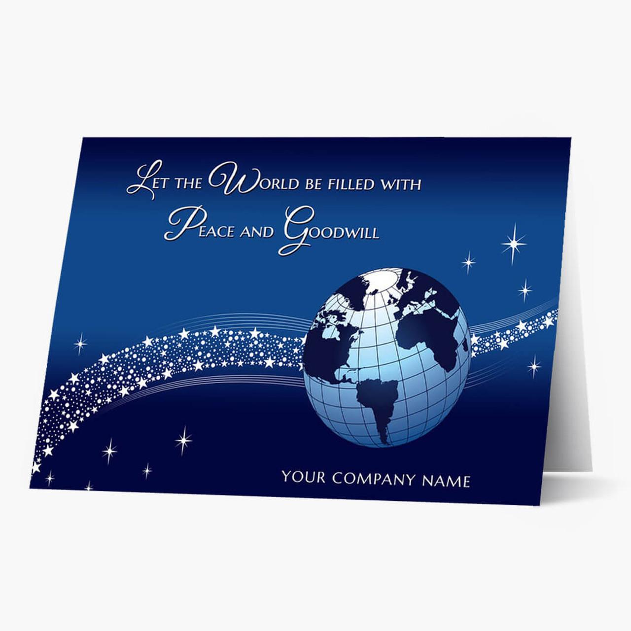 Peace and Goodwill Christmas Card