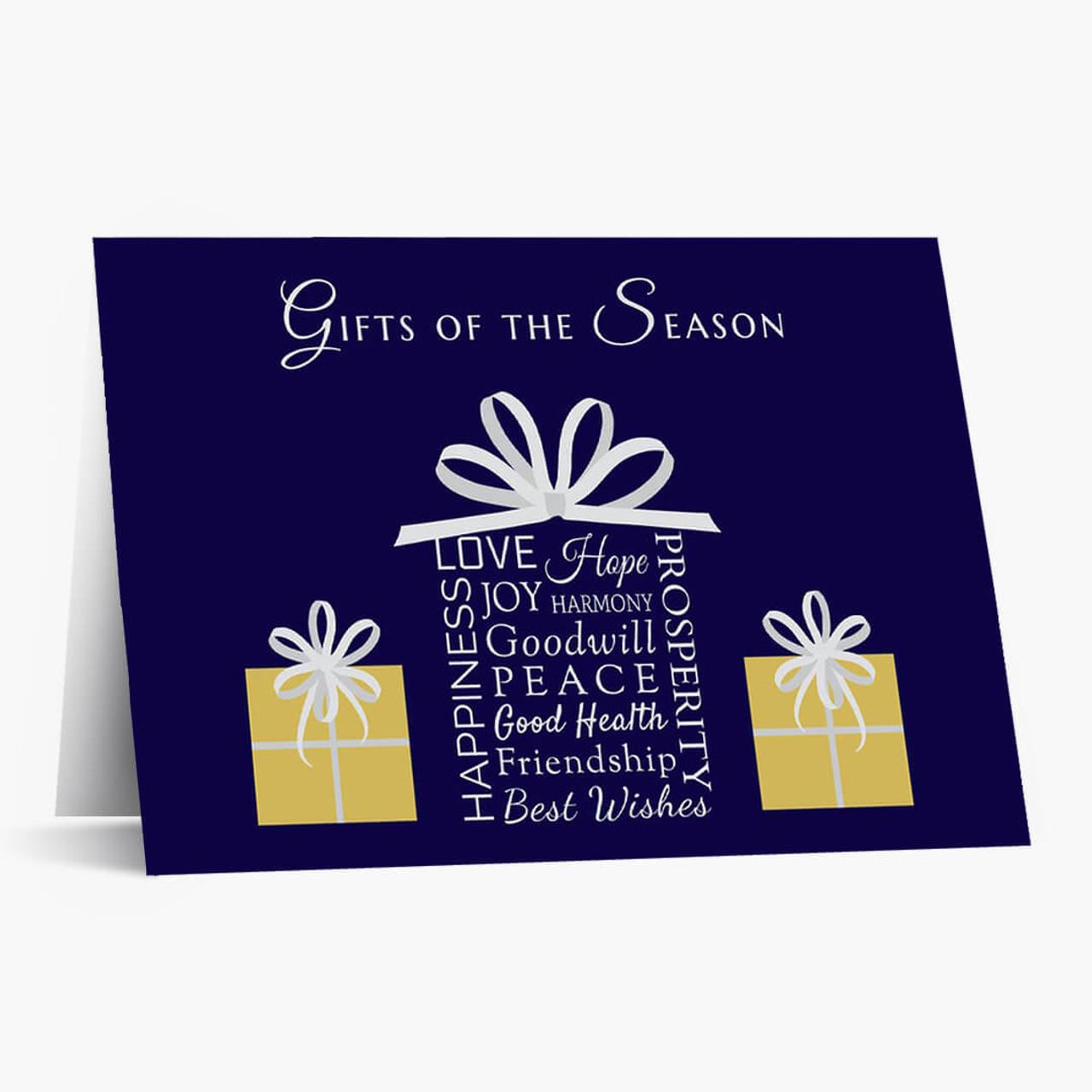 Gifts Of The Season Christmas Card