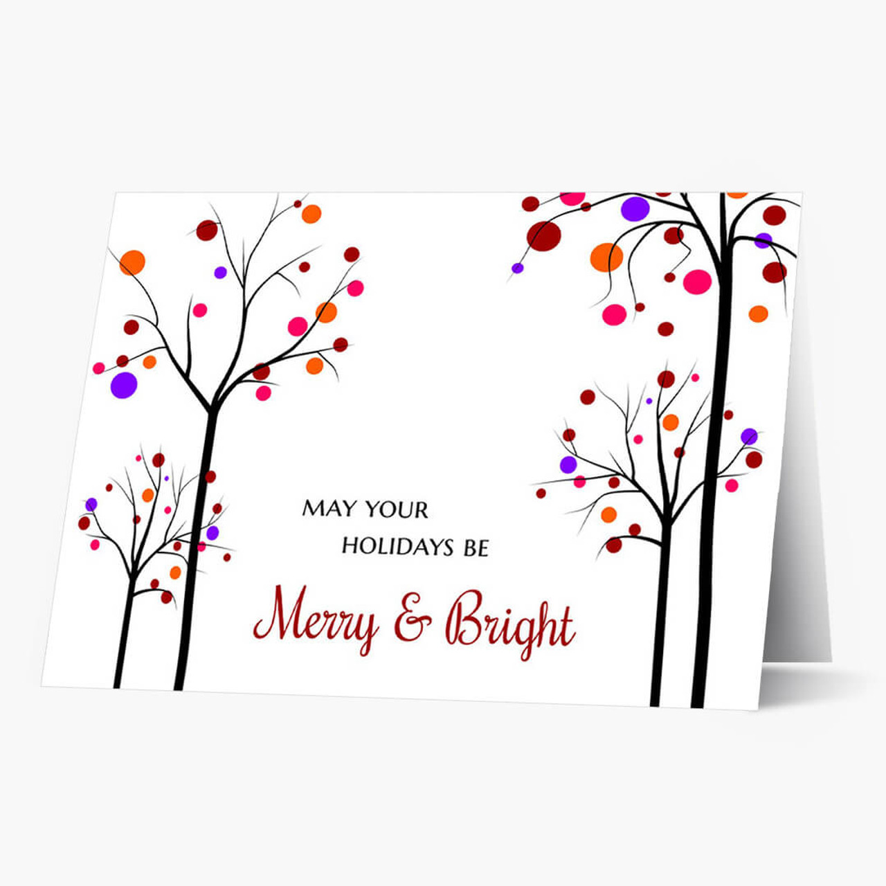 Merry and Bright Christmas Card