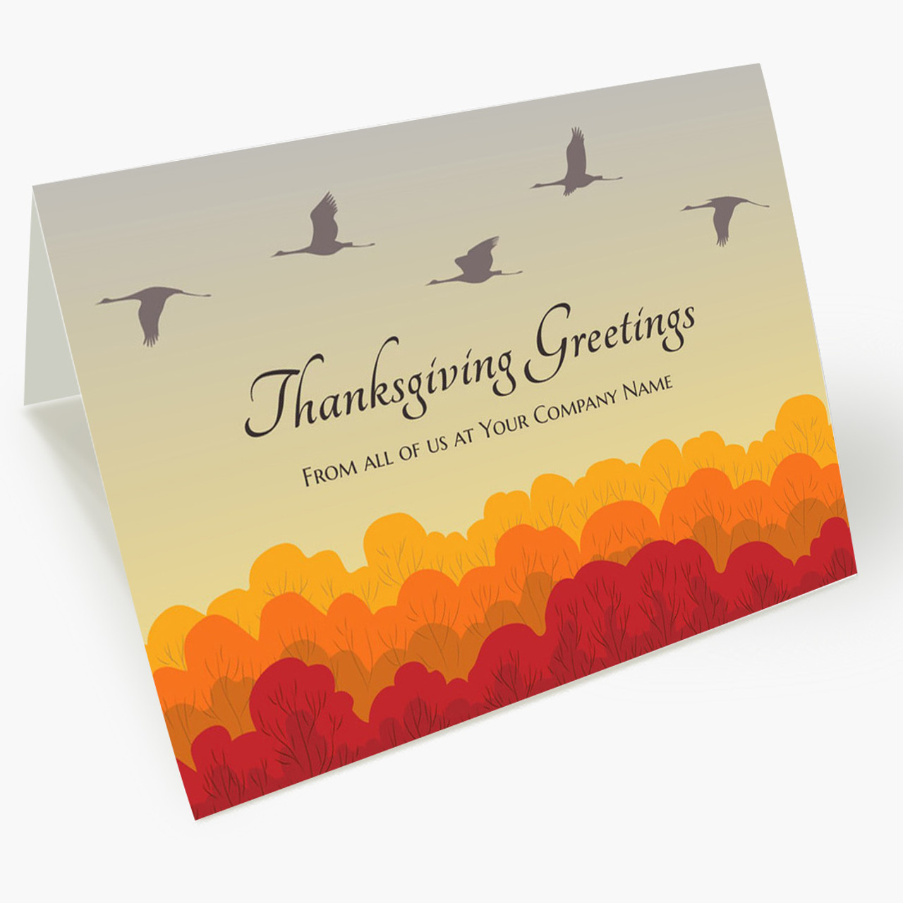 Geese Greetings Thanksgiving Card