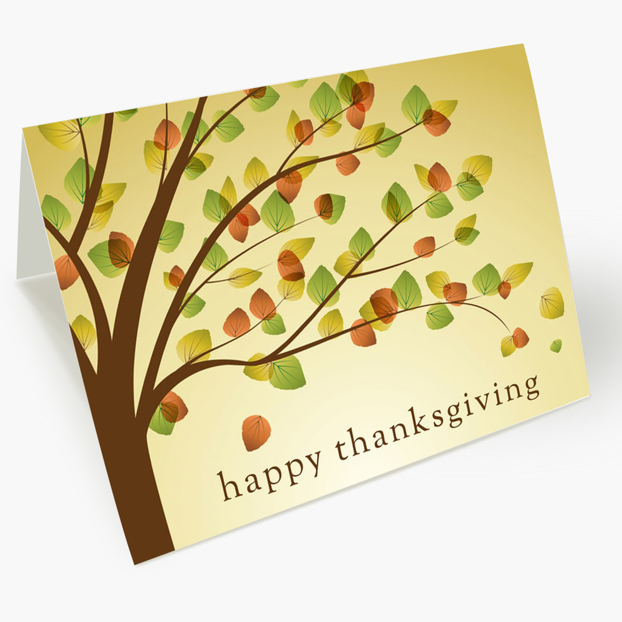 Autumn Tree Thanksgiving Card