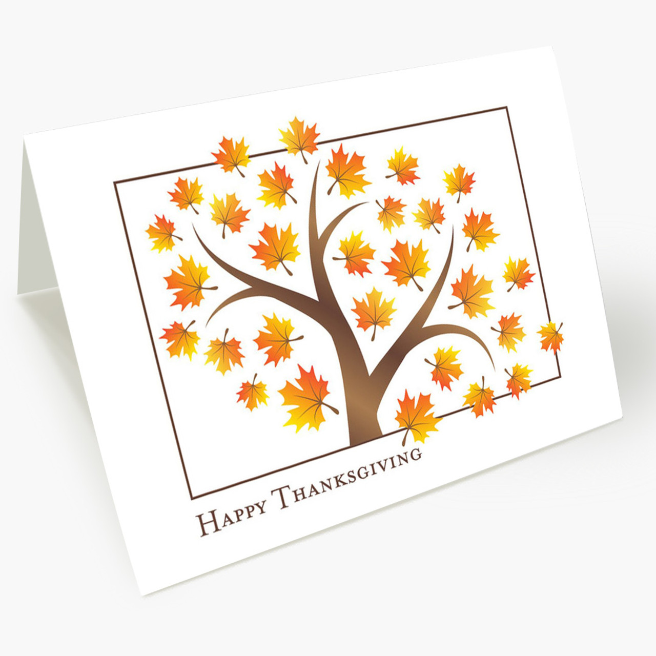 Fall's Foliage Thanksgiving Card