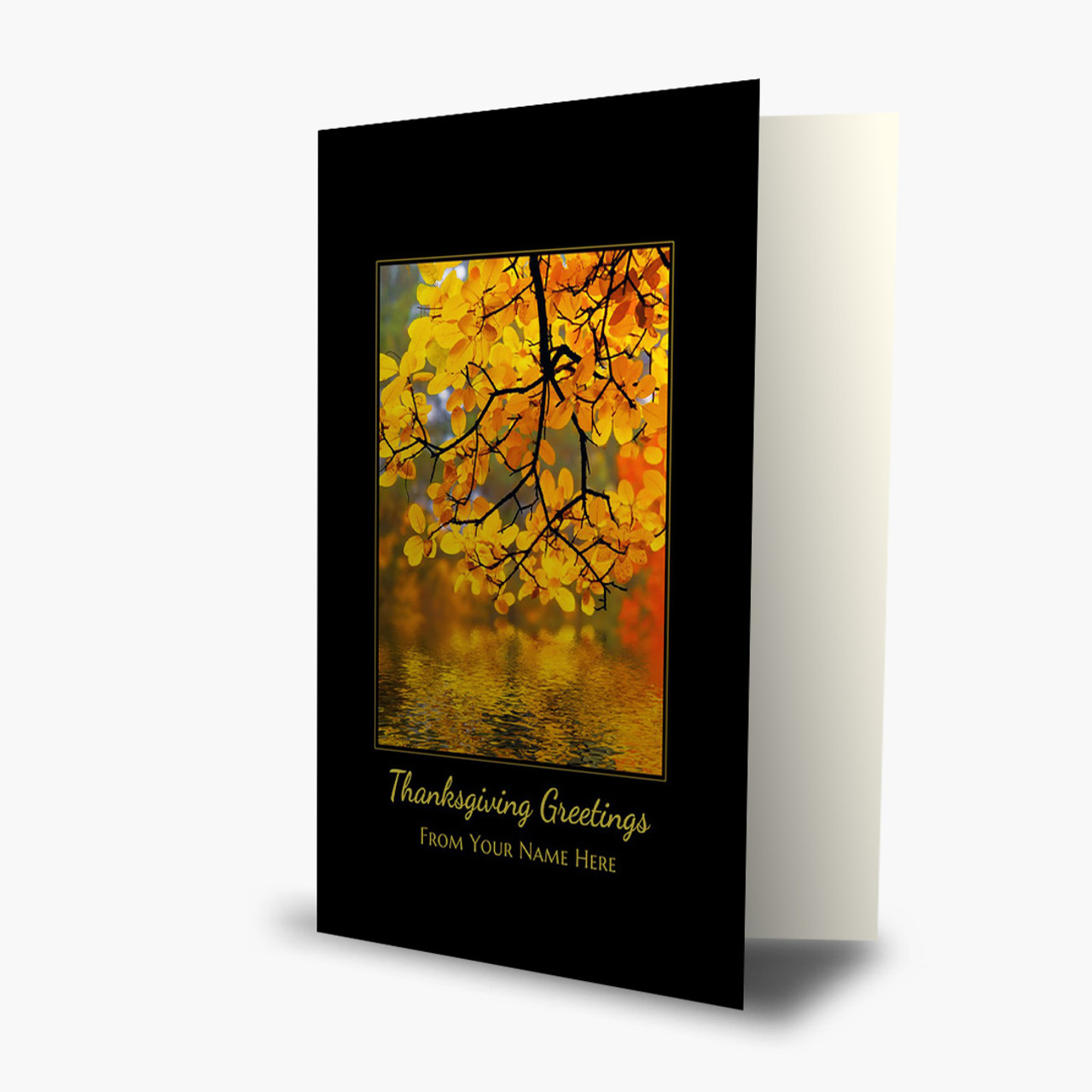 Tranquil Greeting Thanksgiving Card