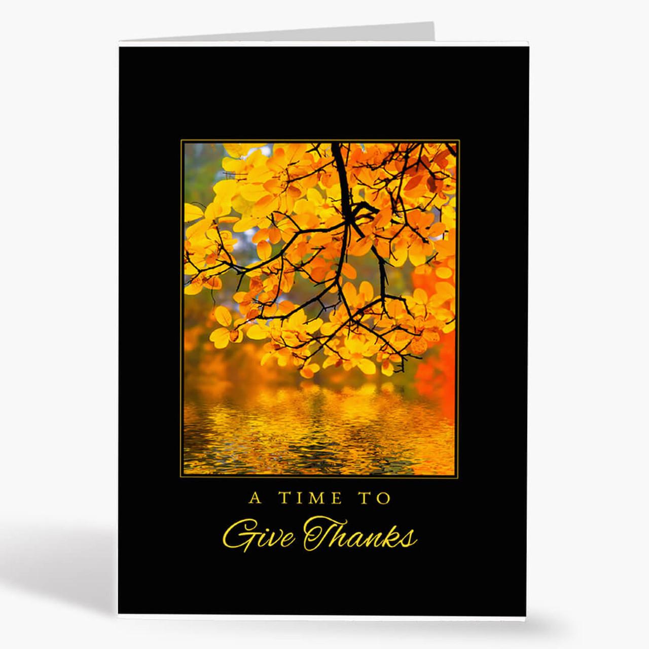 Autumn Thanks Thanksgiving Card