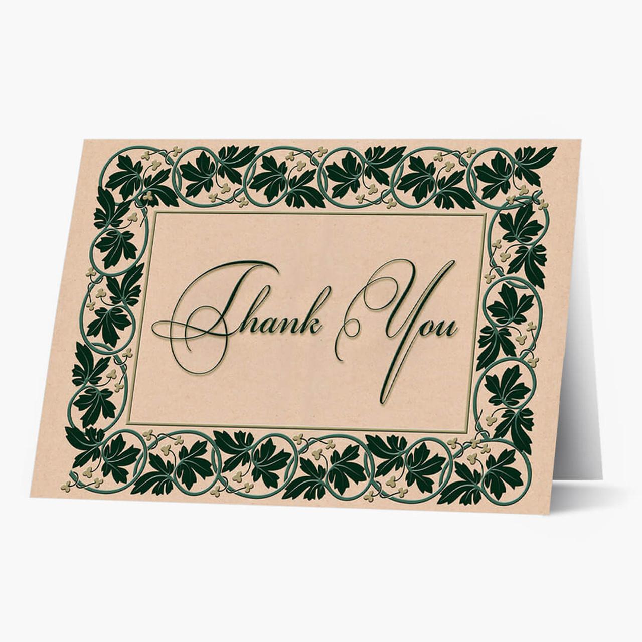 Ivy Frame Of Thanks Card