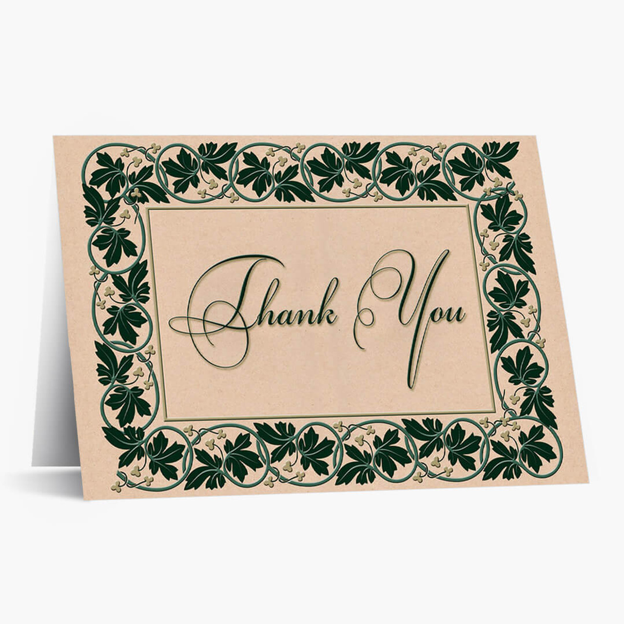 Ivy Frame Of Thanks Card