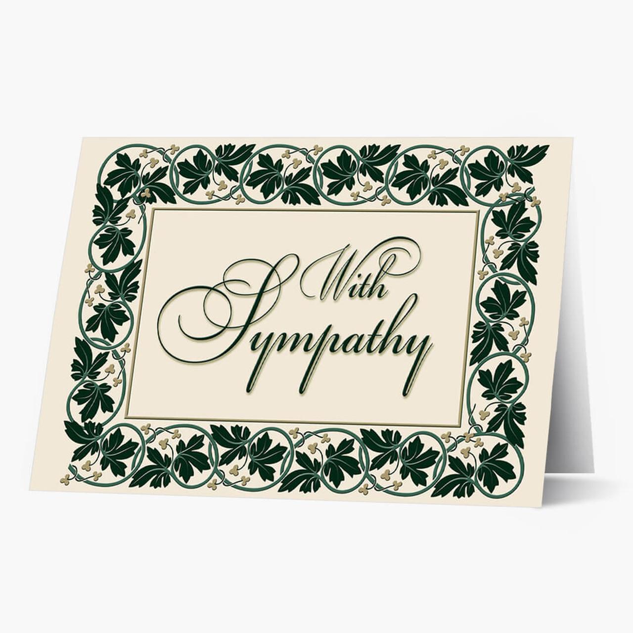 Ivy Sympathy Card