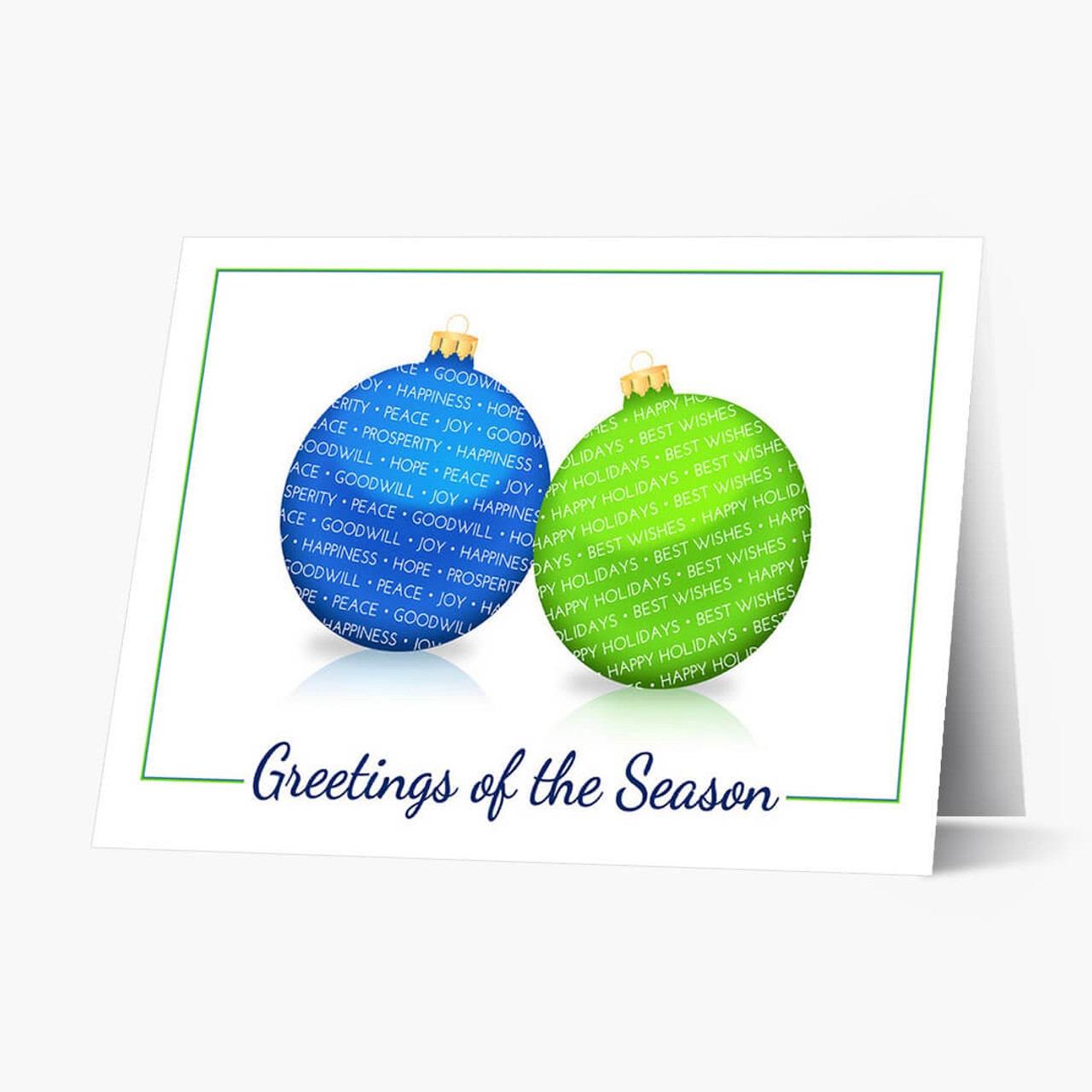 Best Of Wishes Christmas Card