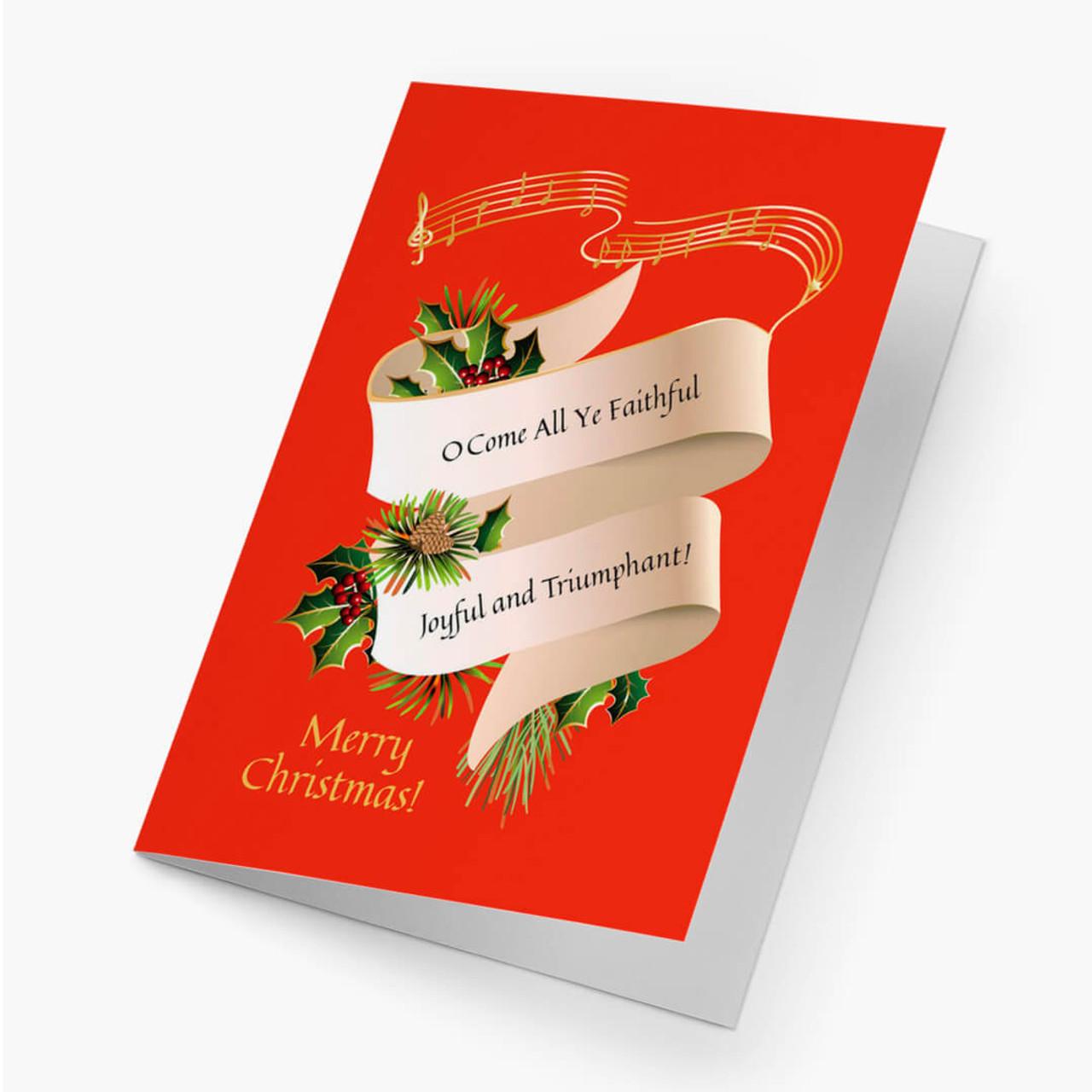 All Ye Faithful Christmas Card
