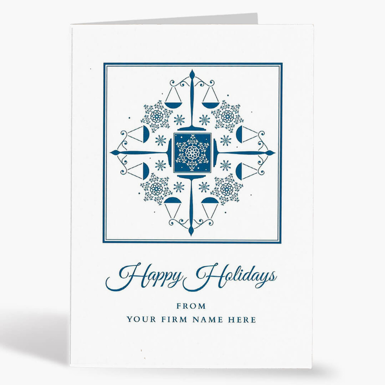 Snowflakes and Scales Christmas Card