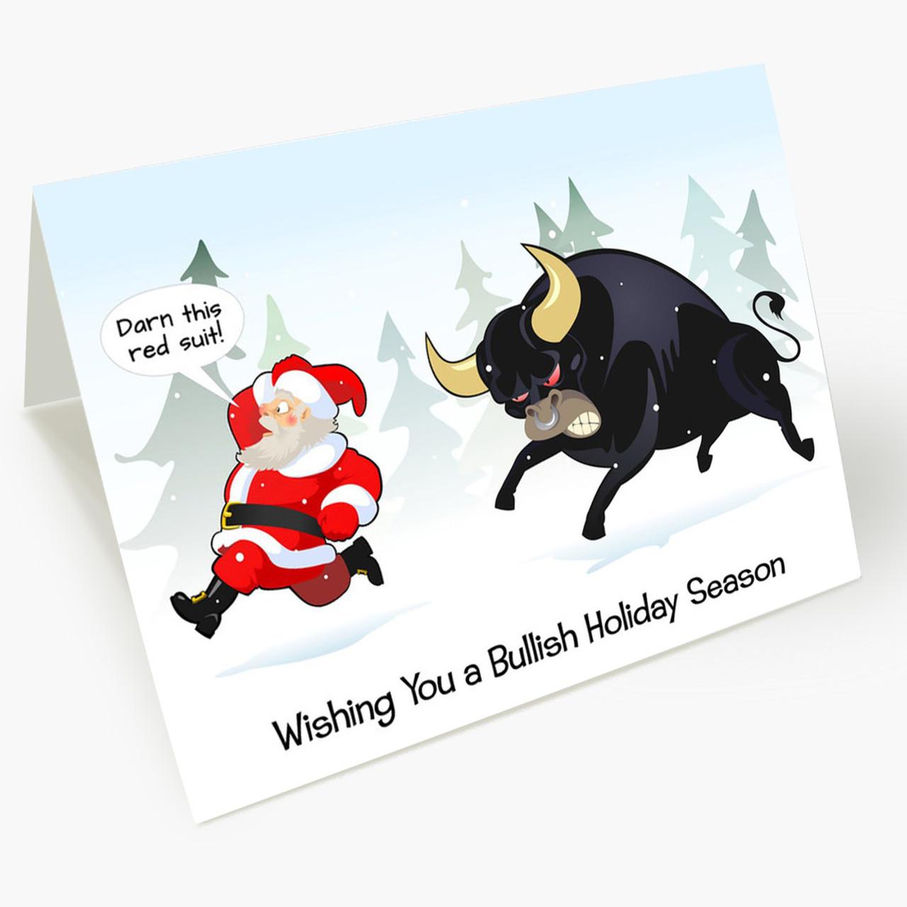 Bullish Holiday Christmas Card