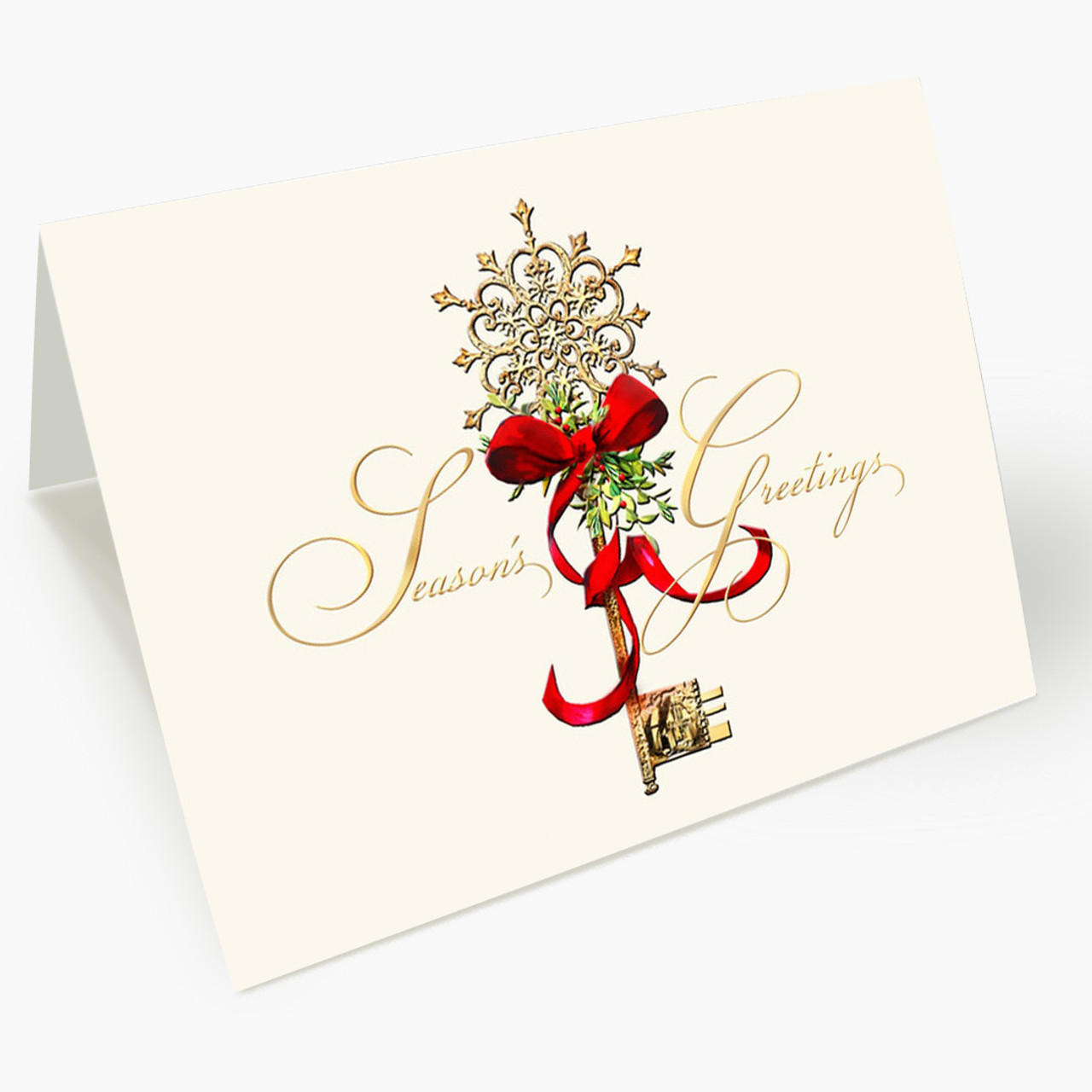 Decorated Key  Christmas Card
