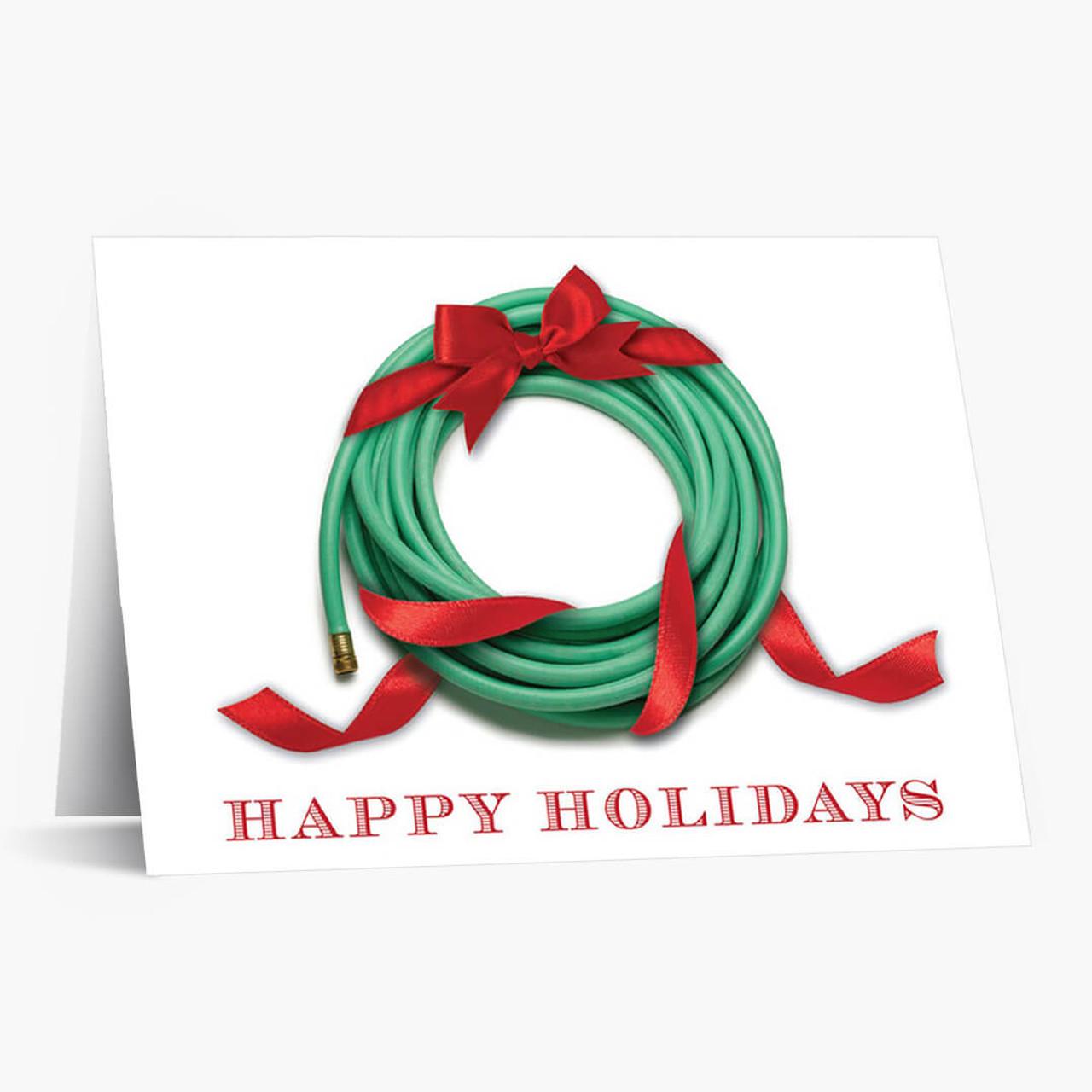 Gardener's Wreath Christmas Card
