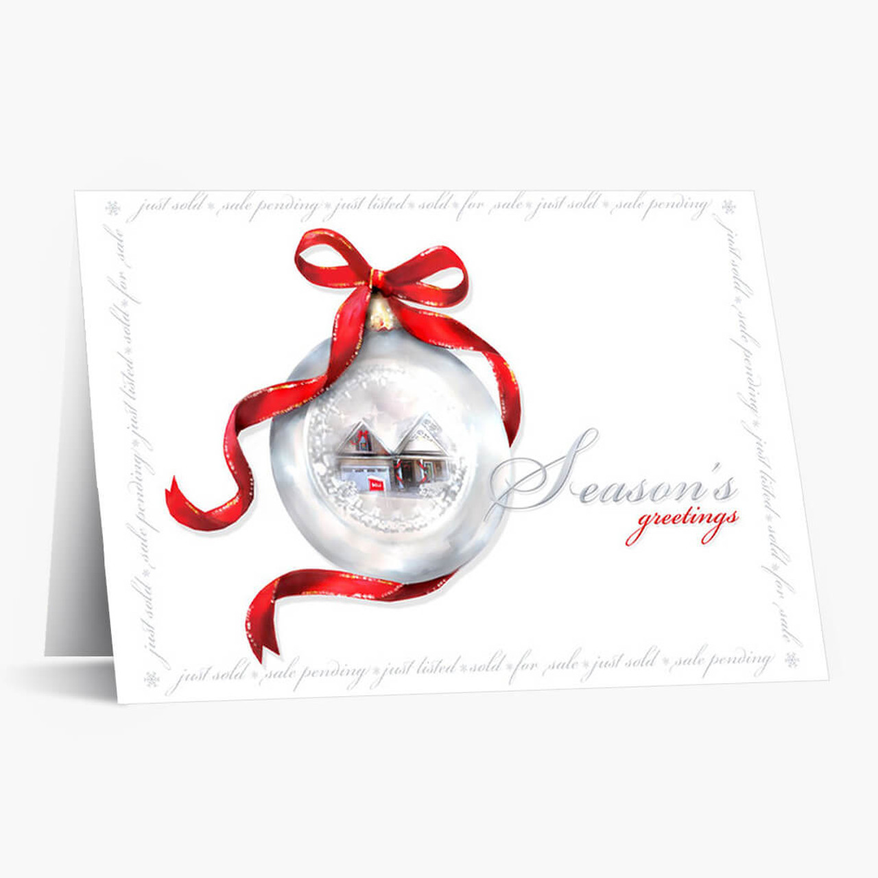 Real Estate Ornament Christmas Card
