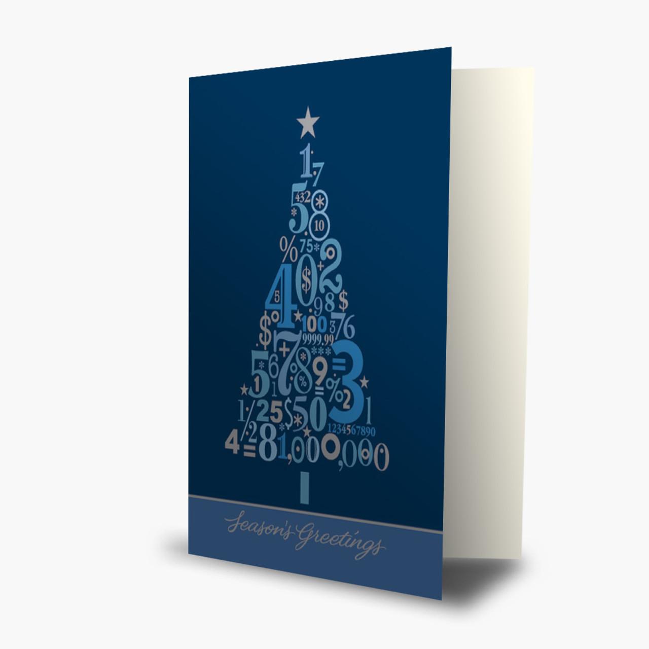 Accounting Tree Christmas Card