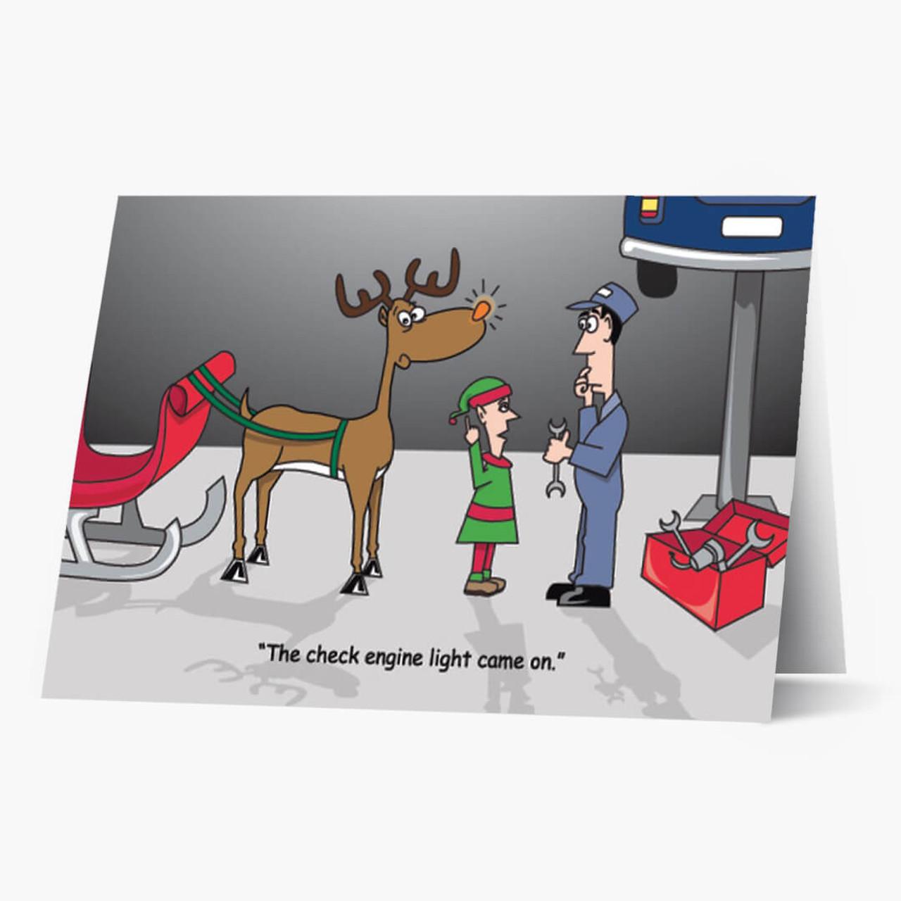 Rudolph's Checkup Christmas Card