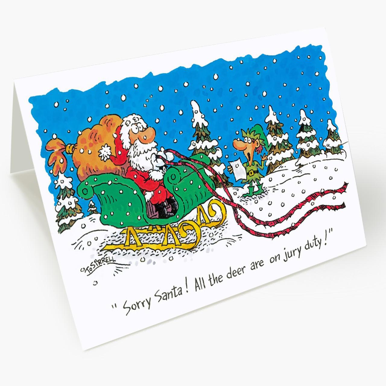 Jury Duty Christmas Card