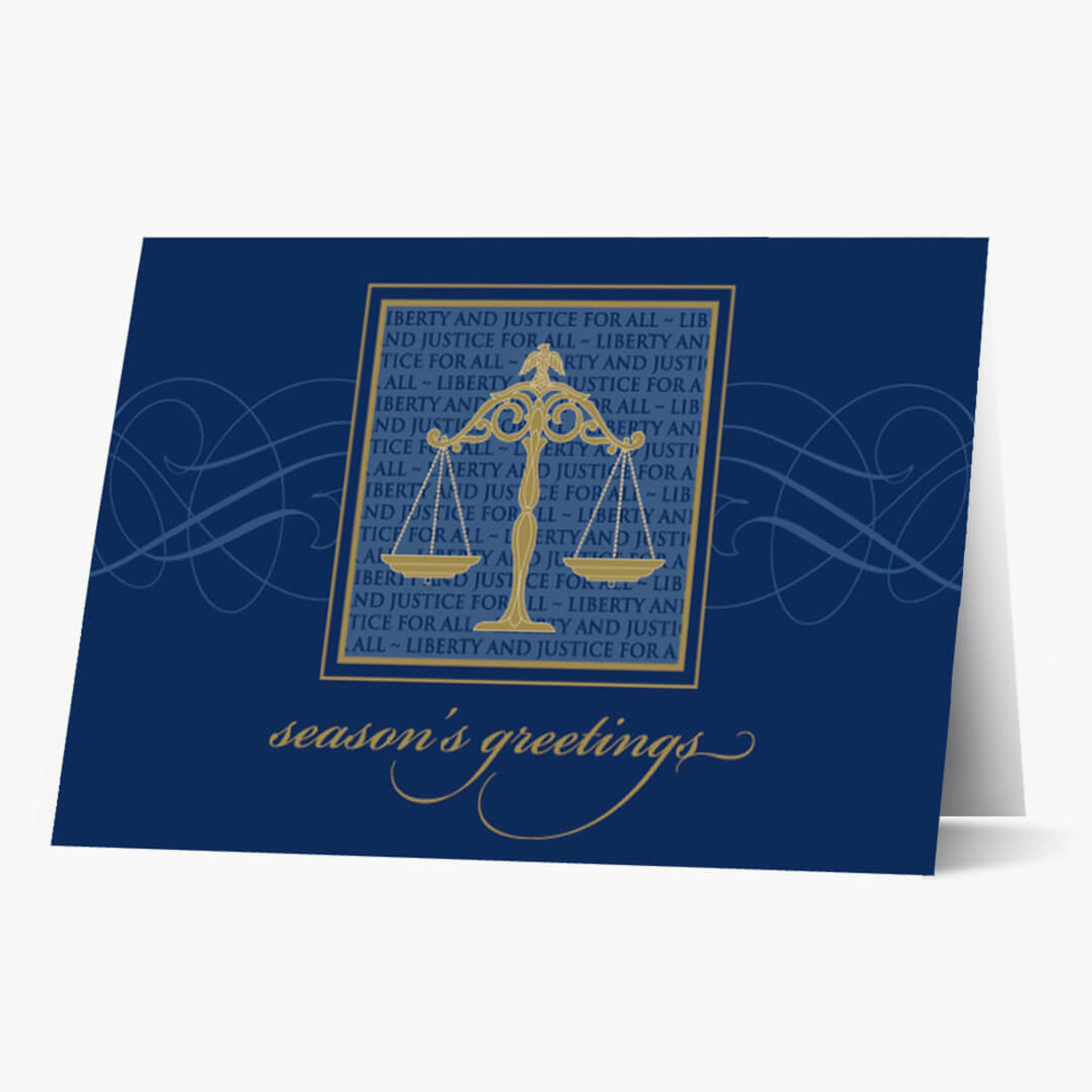 Liberty And Justice Christmas Card