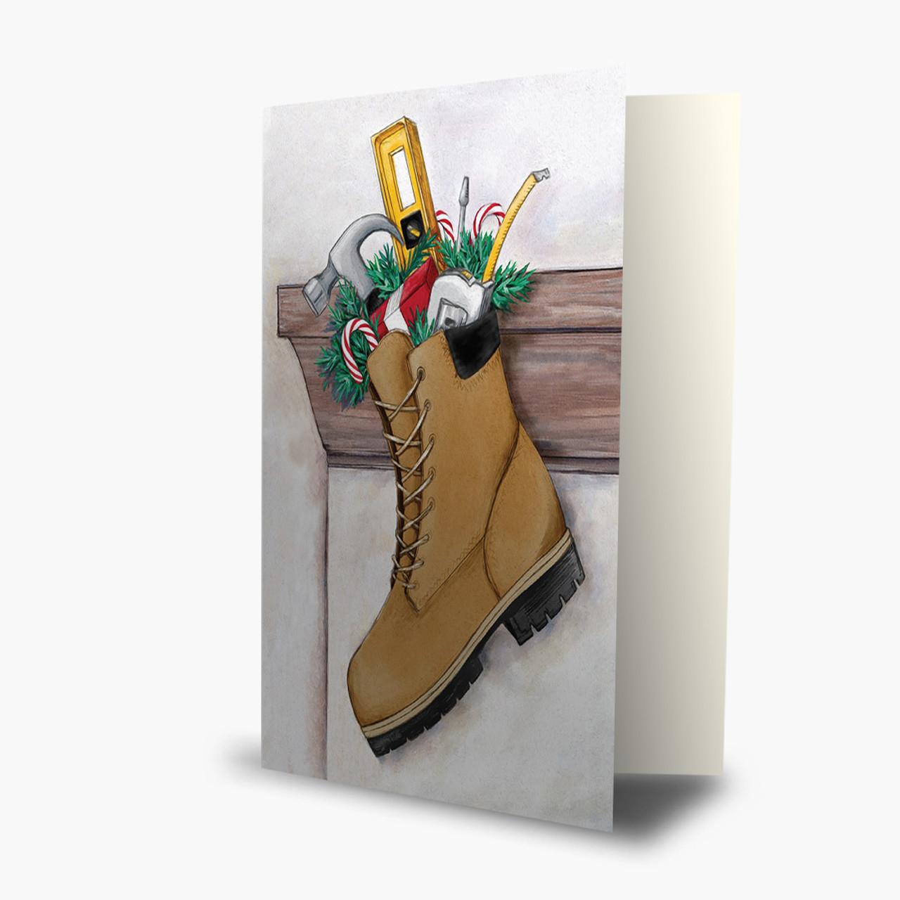 Builder's Stocking Christmas Card