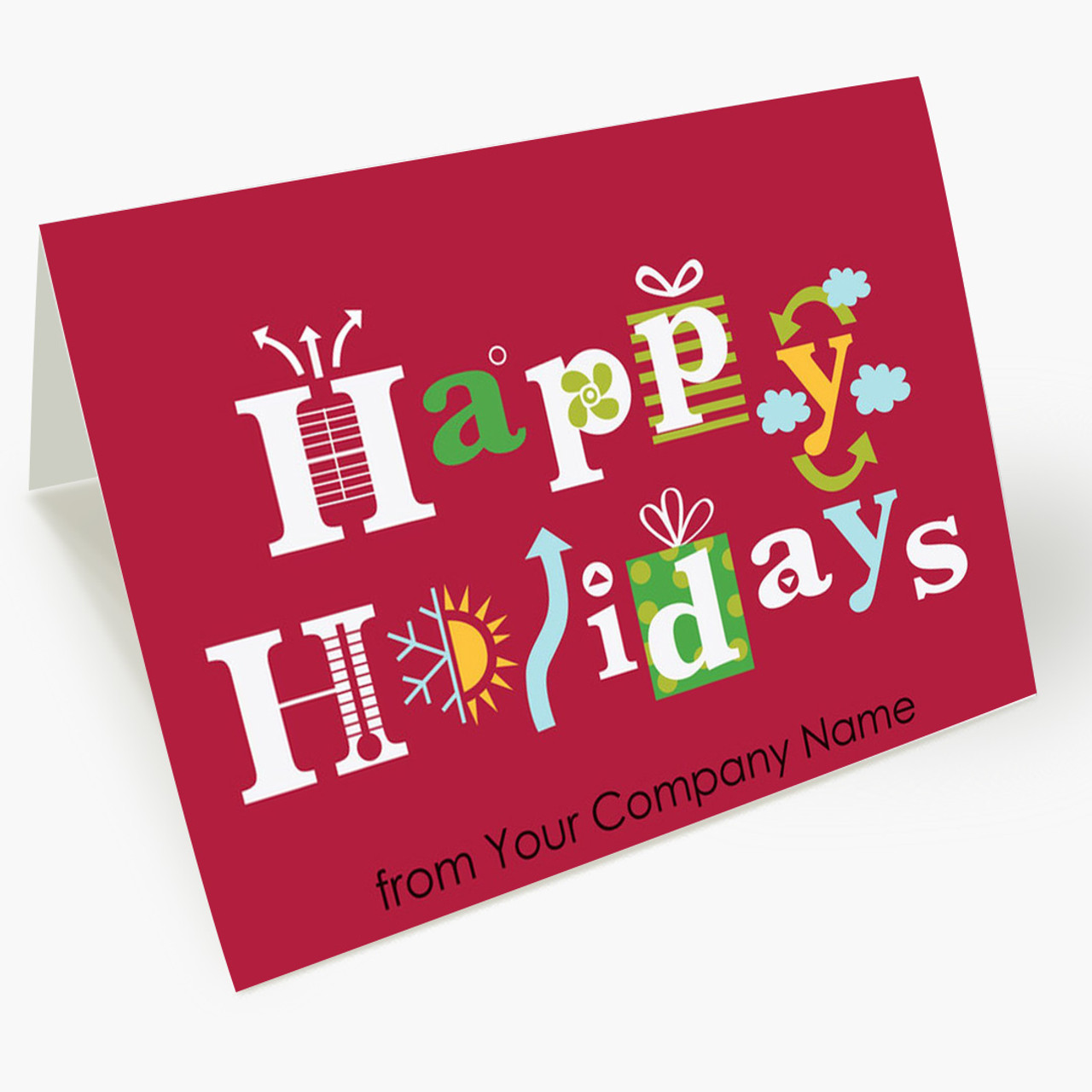 Heating and Cooling Icons Christmas Card