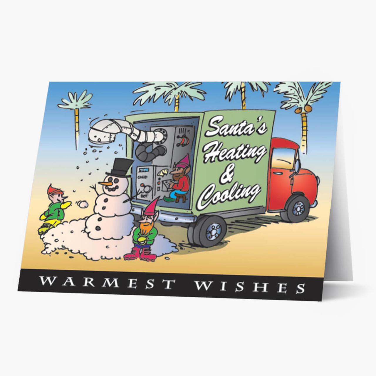 Santa's HVAC Truck Christmas Card
