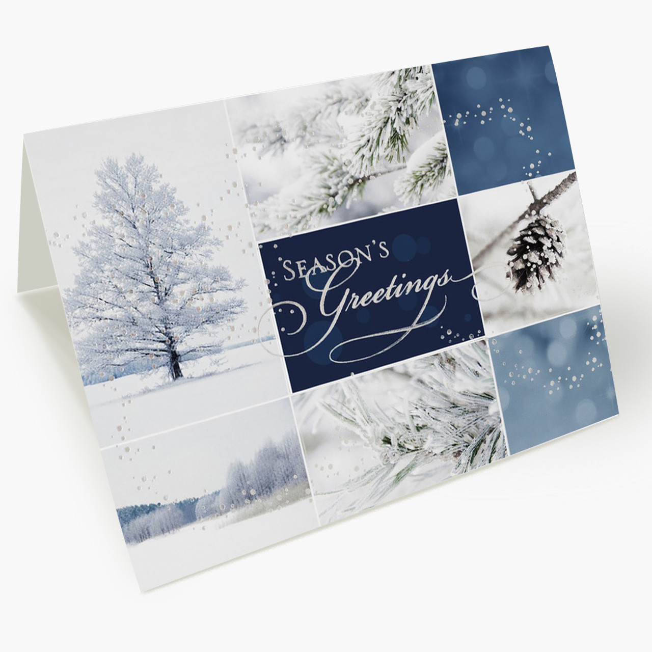 A Winter Collage Christmas Card