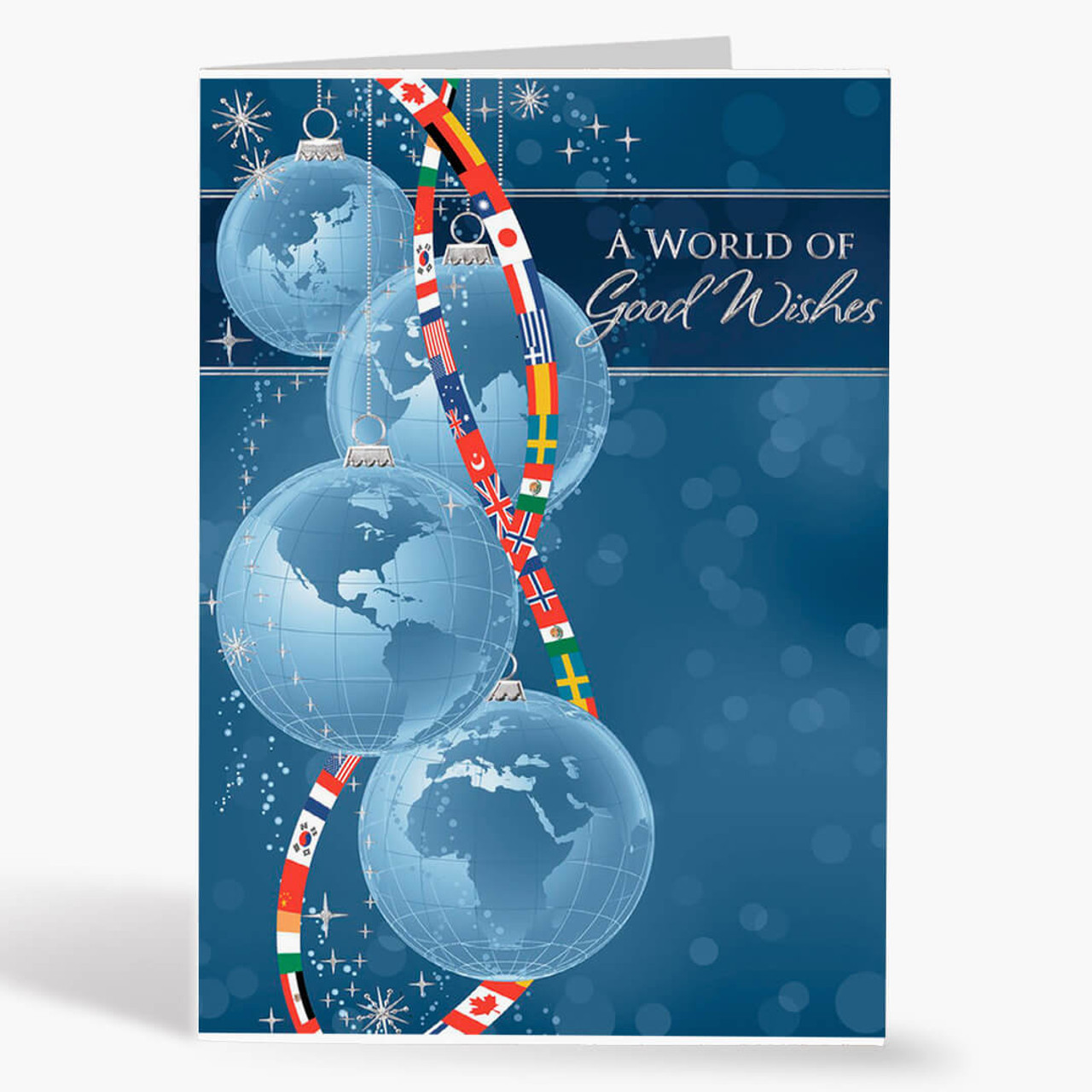 Worldly Good Wishes Christmas Card