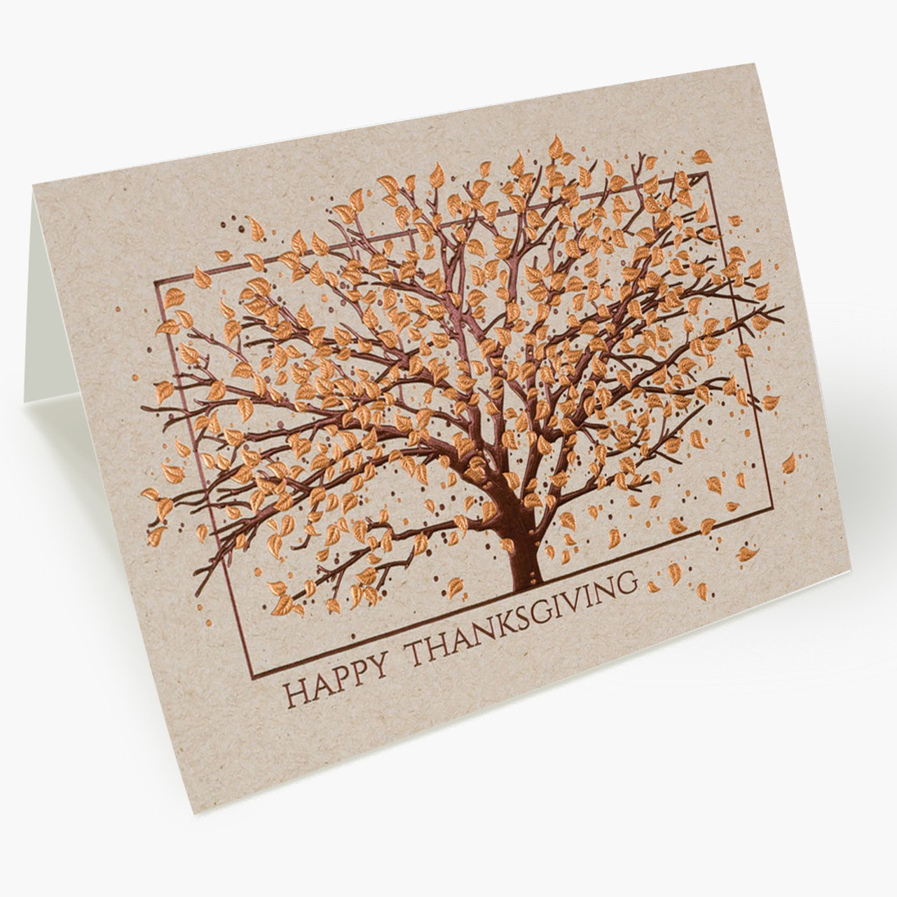 Copper Tree Thanksgiving Card