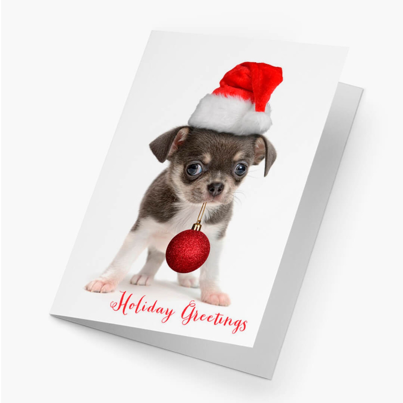 Puppy Greetings Christmas Card