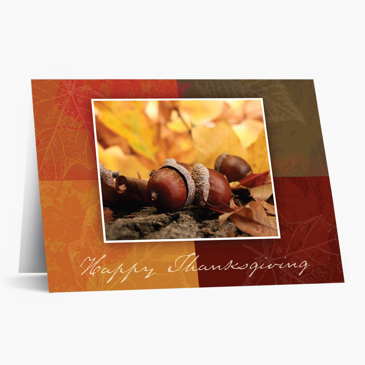 Autumn Acorns Thanksgiving Card