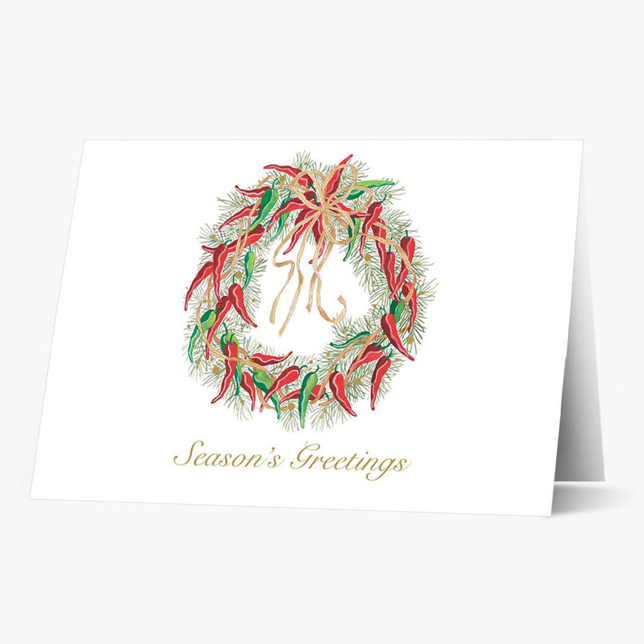 Hot Pepper Wreath Christmas Card