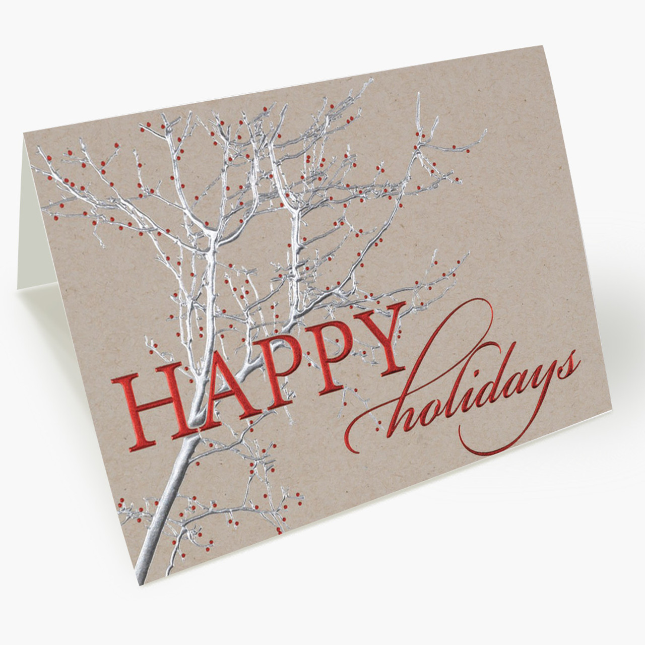 Shimmering Branches Christmas Card