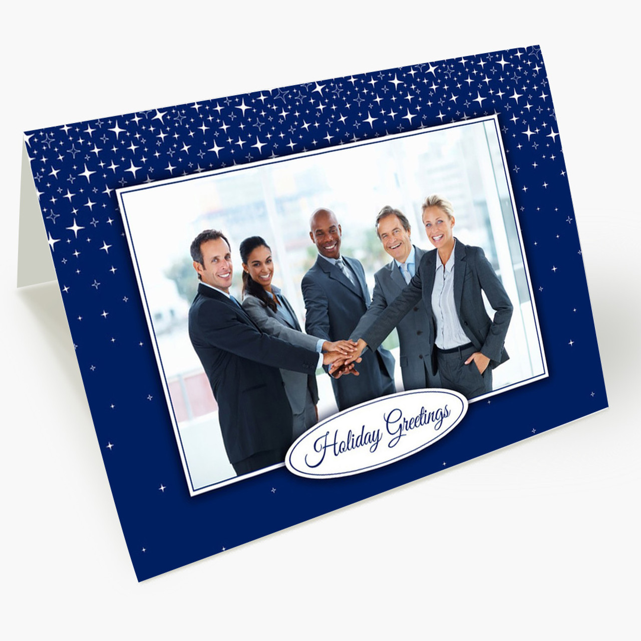 Holiday Stars Photo - Matte Finish Christmas Card