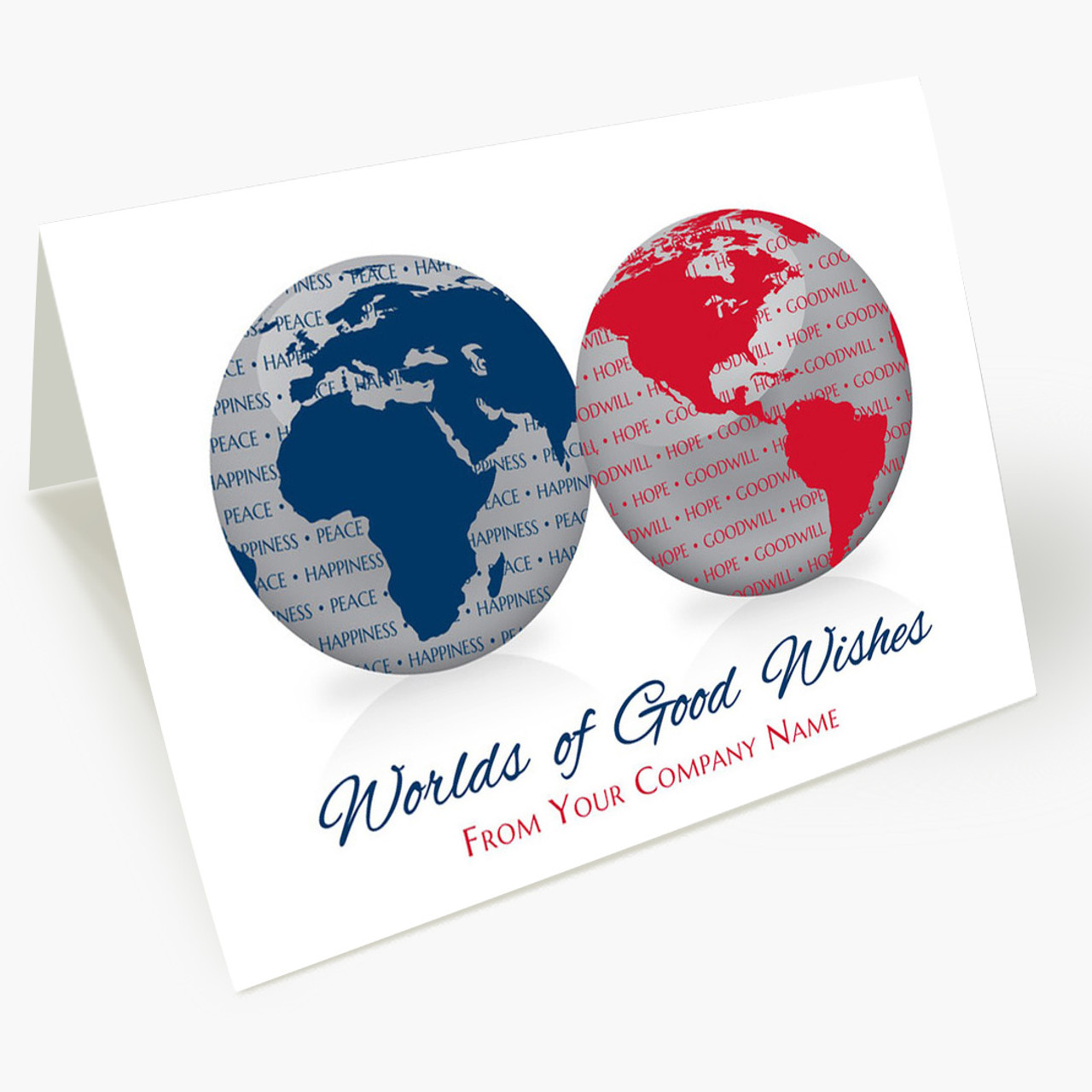 Worlds Of Good Wishes Christmas Card