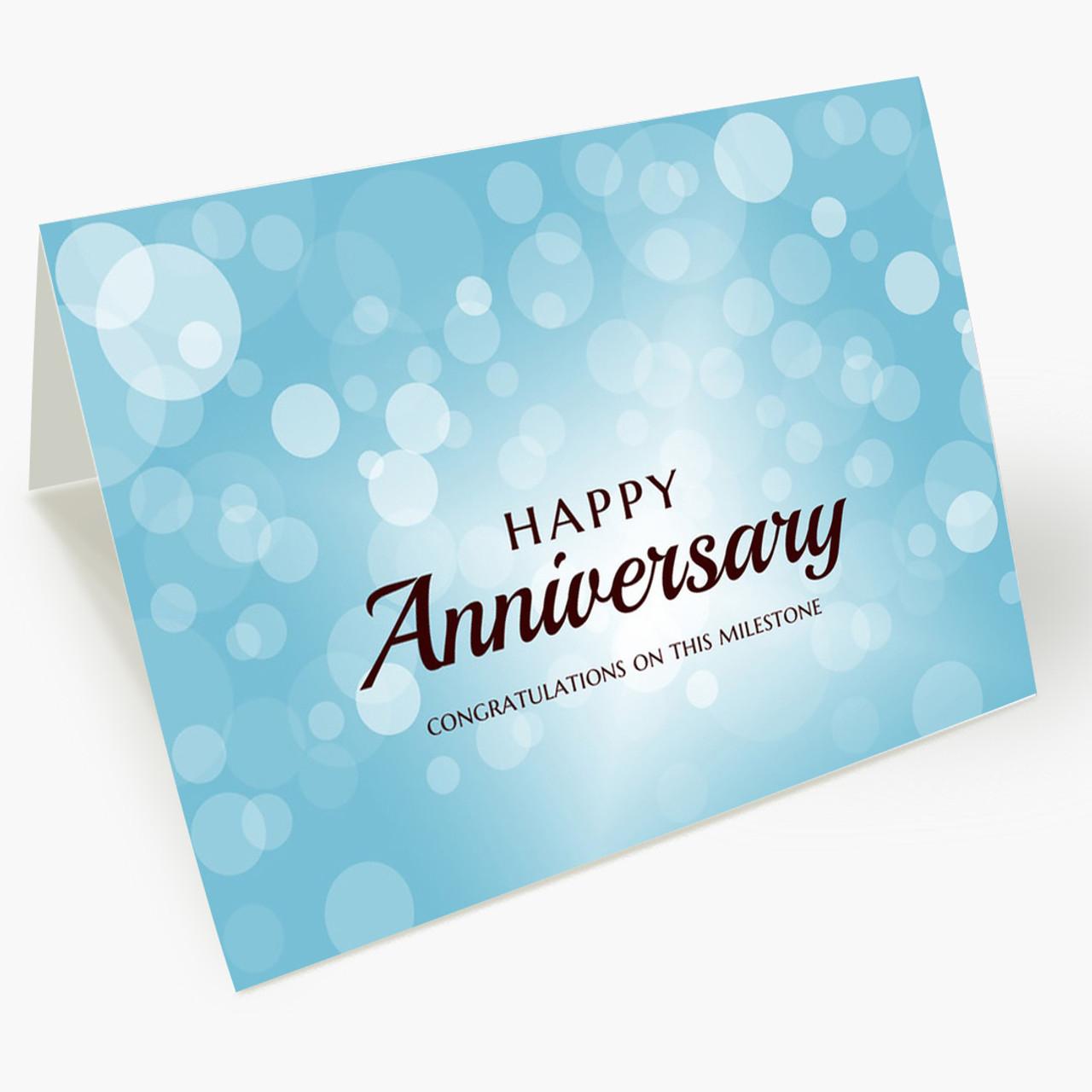 Bubbles Anniversary Card