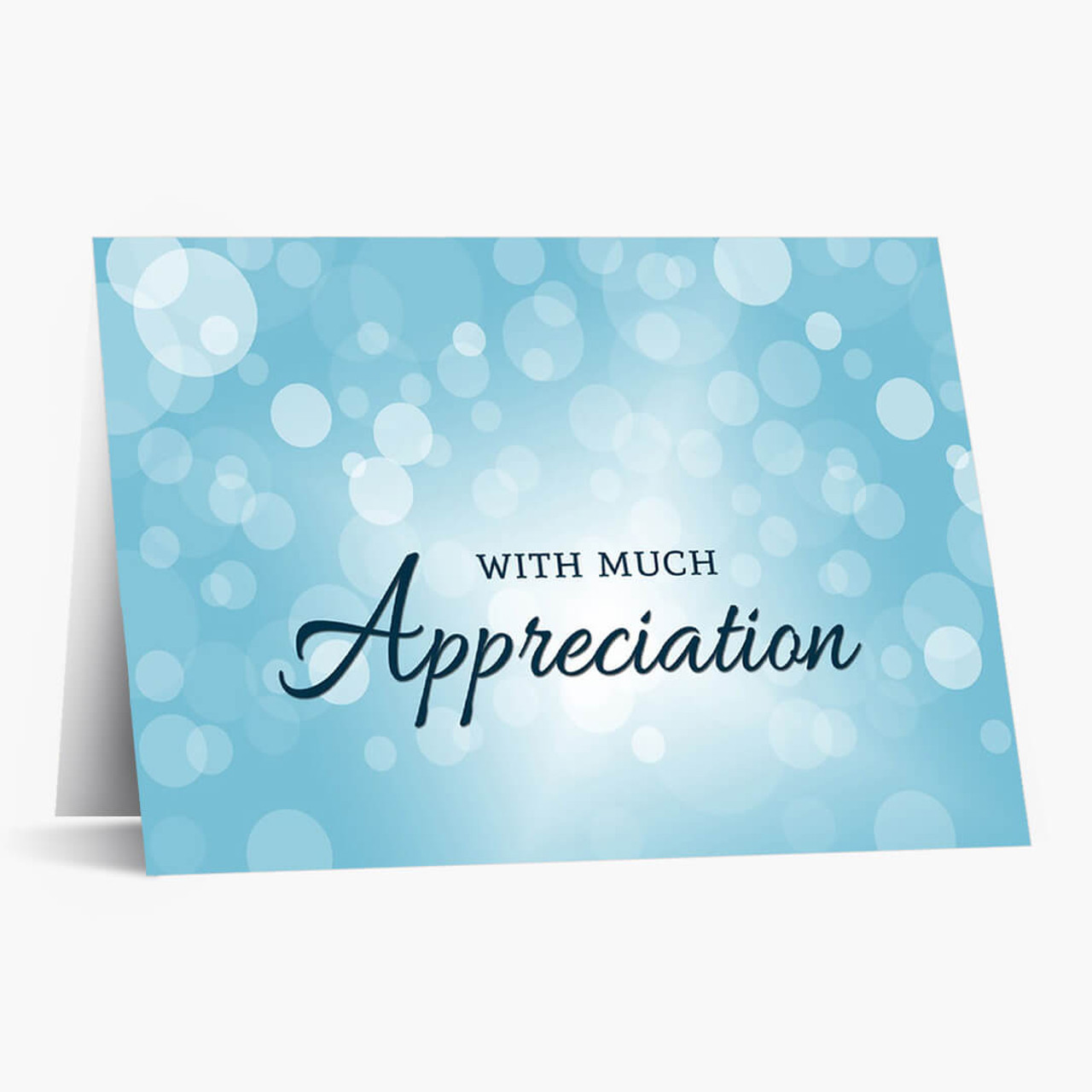 Appreciation Bubbles Thank You Card