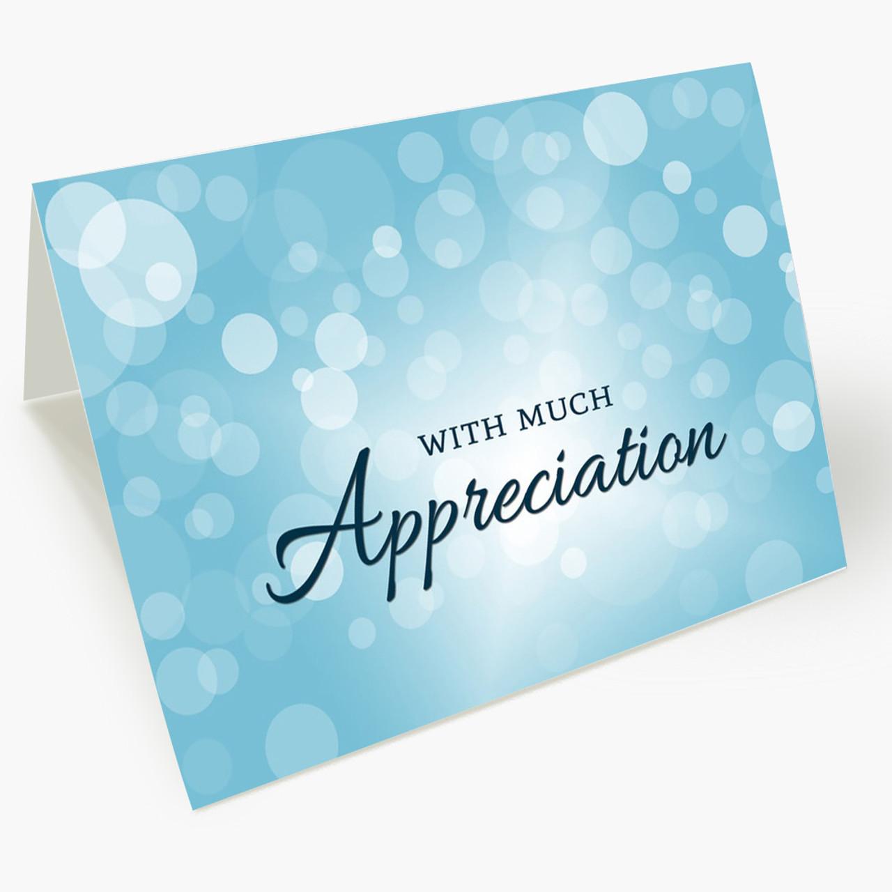 Appreciation Bubbles Thank You Card