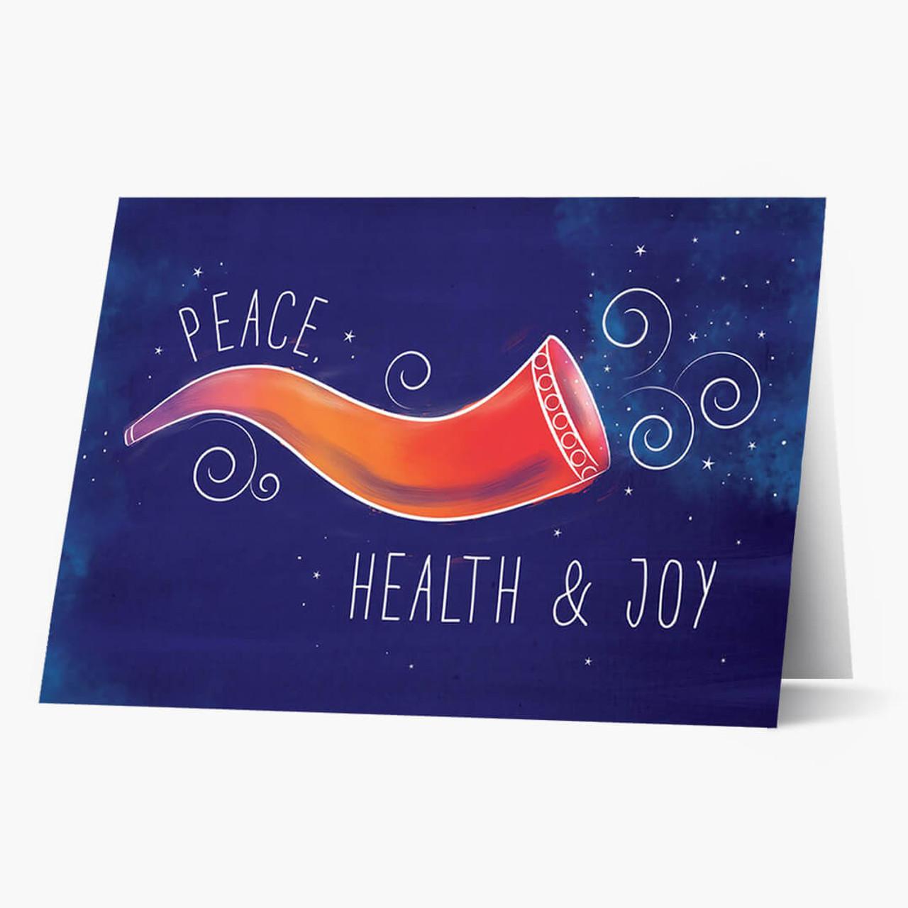 Colorful Shofar Rosh Hashanah Card