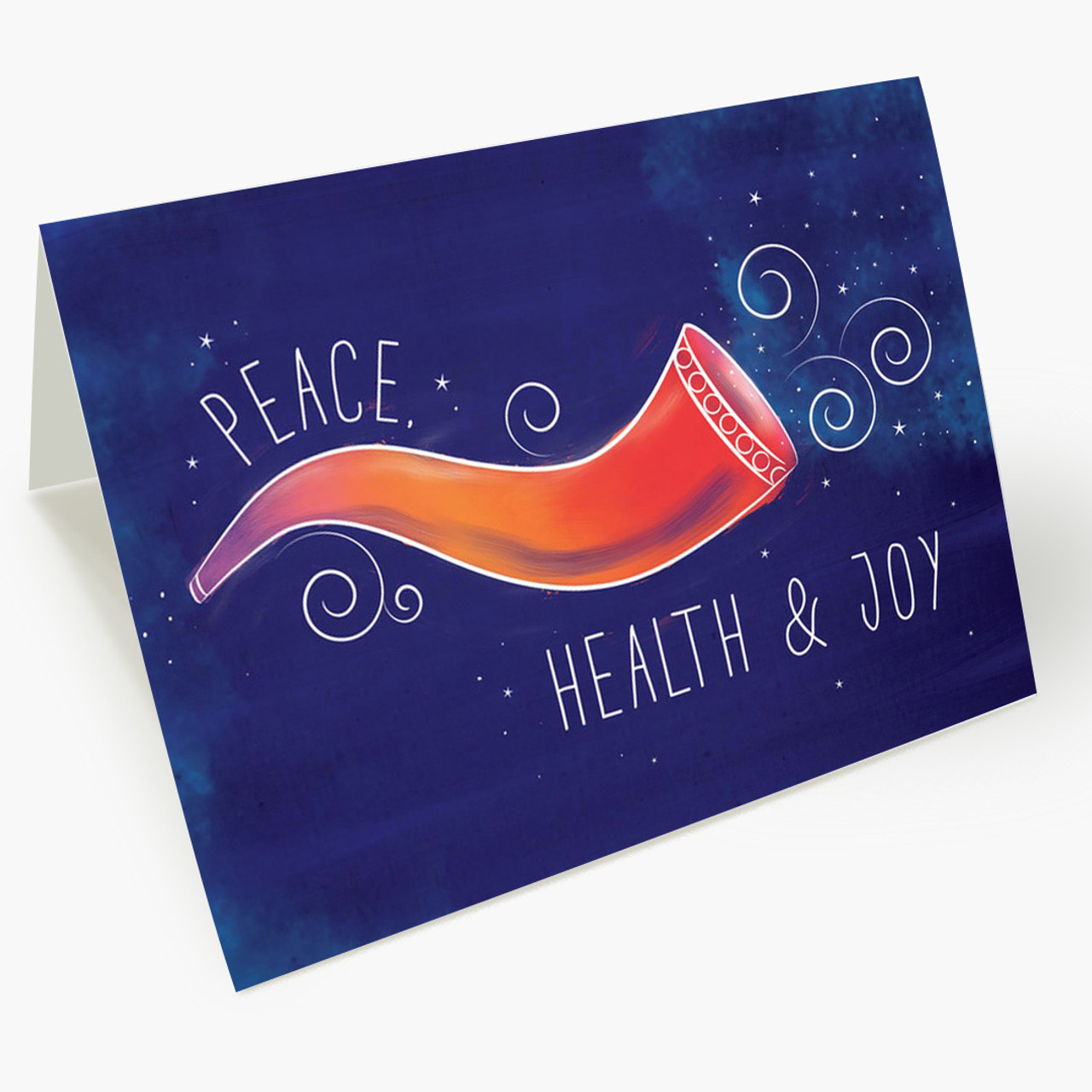 Colorful Shofar Rosh Hashanah Card