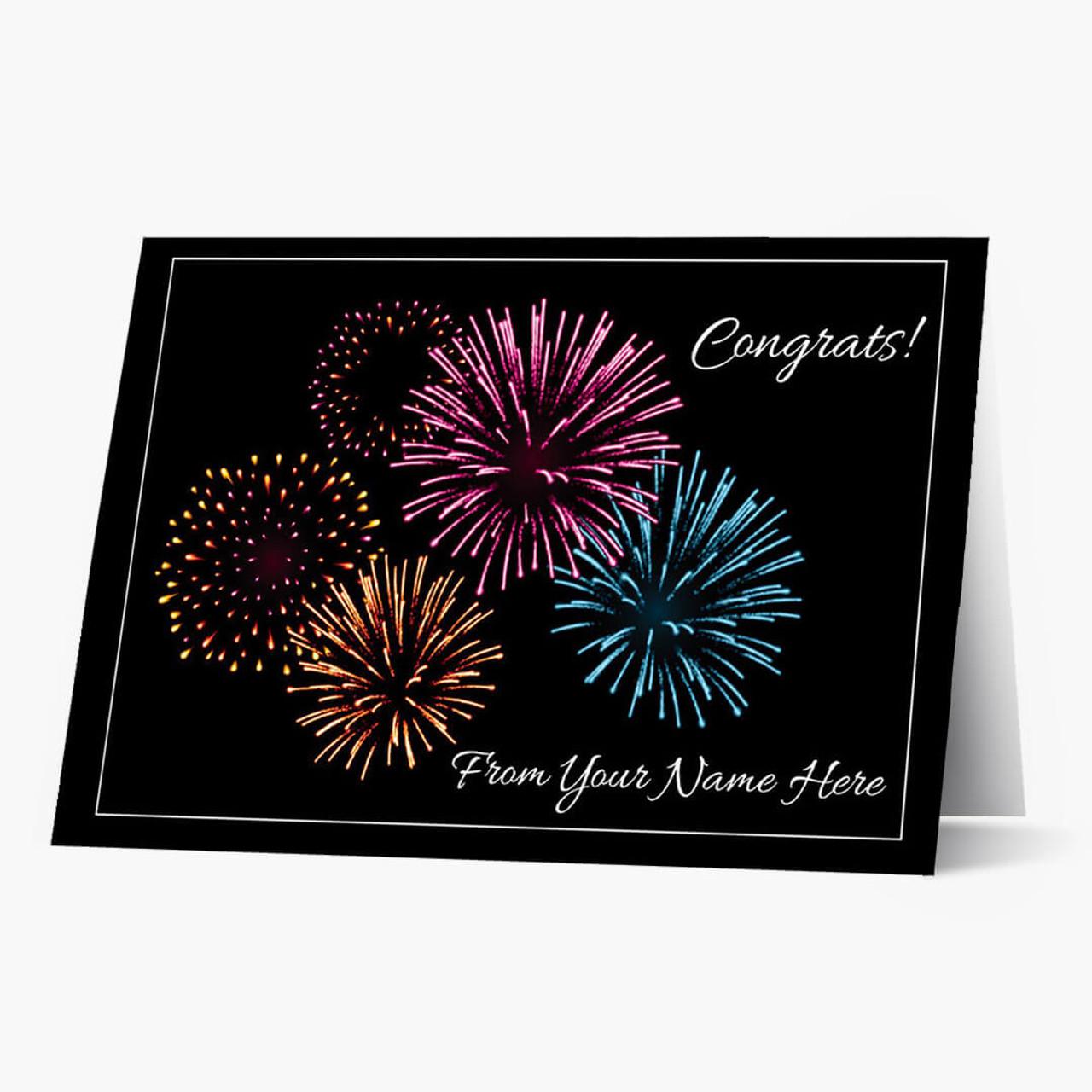 Explosive Congrats Card