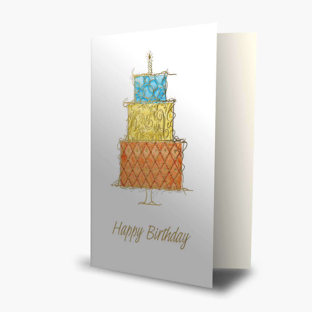 Ornate Cake Birthday Card